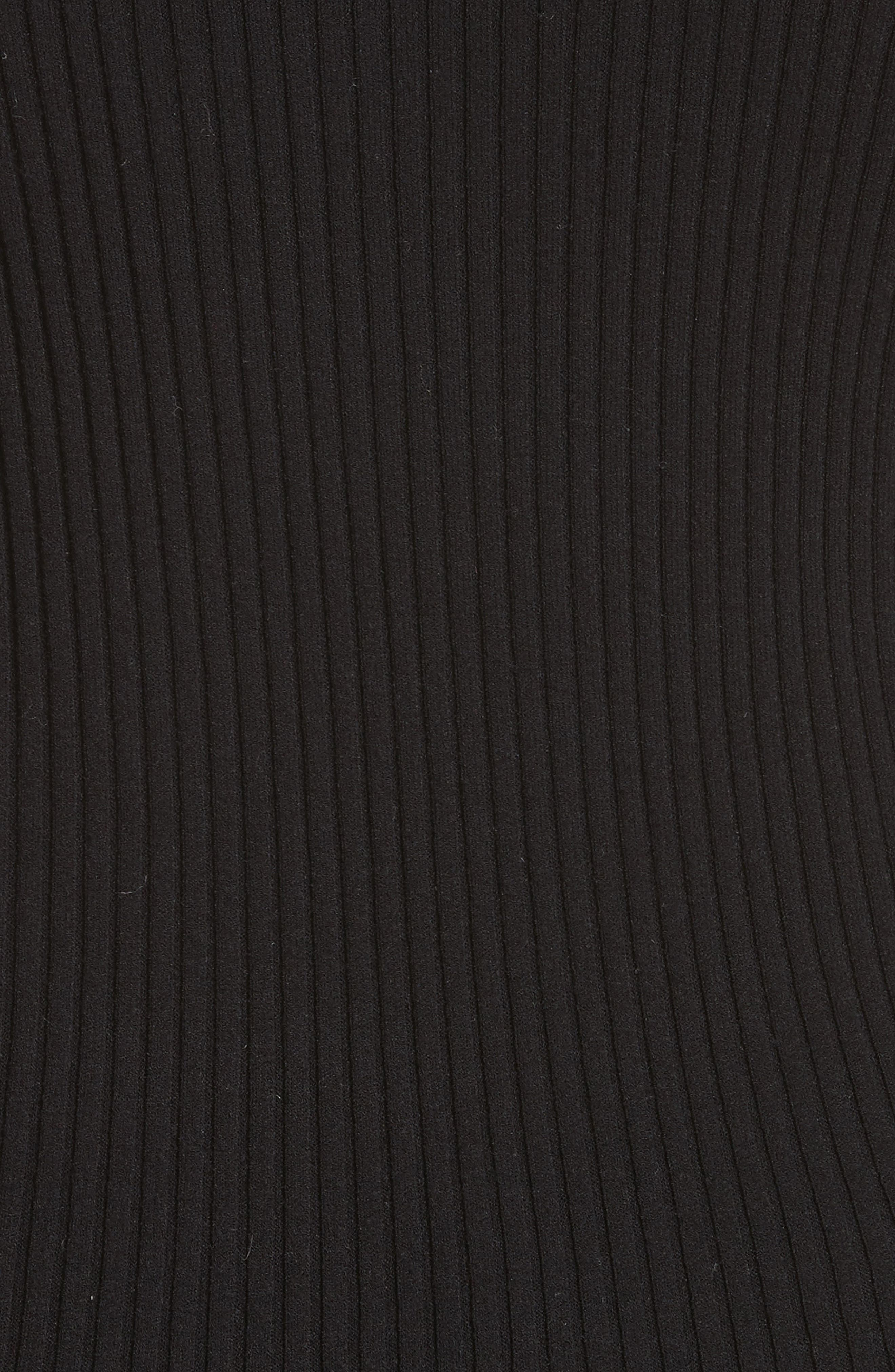 Rib Knit Scoop Neck Sweater,                             Alternate thumbnail 5, color,                             001
