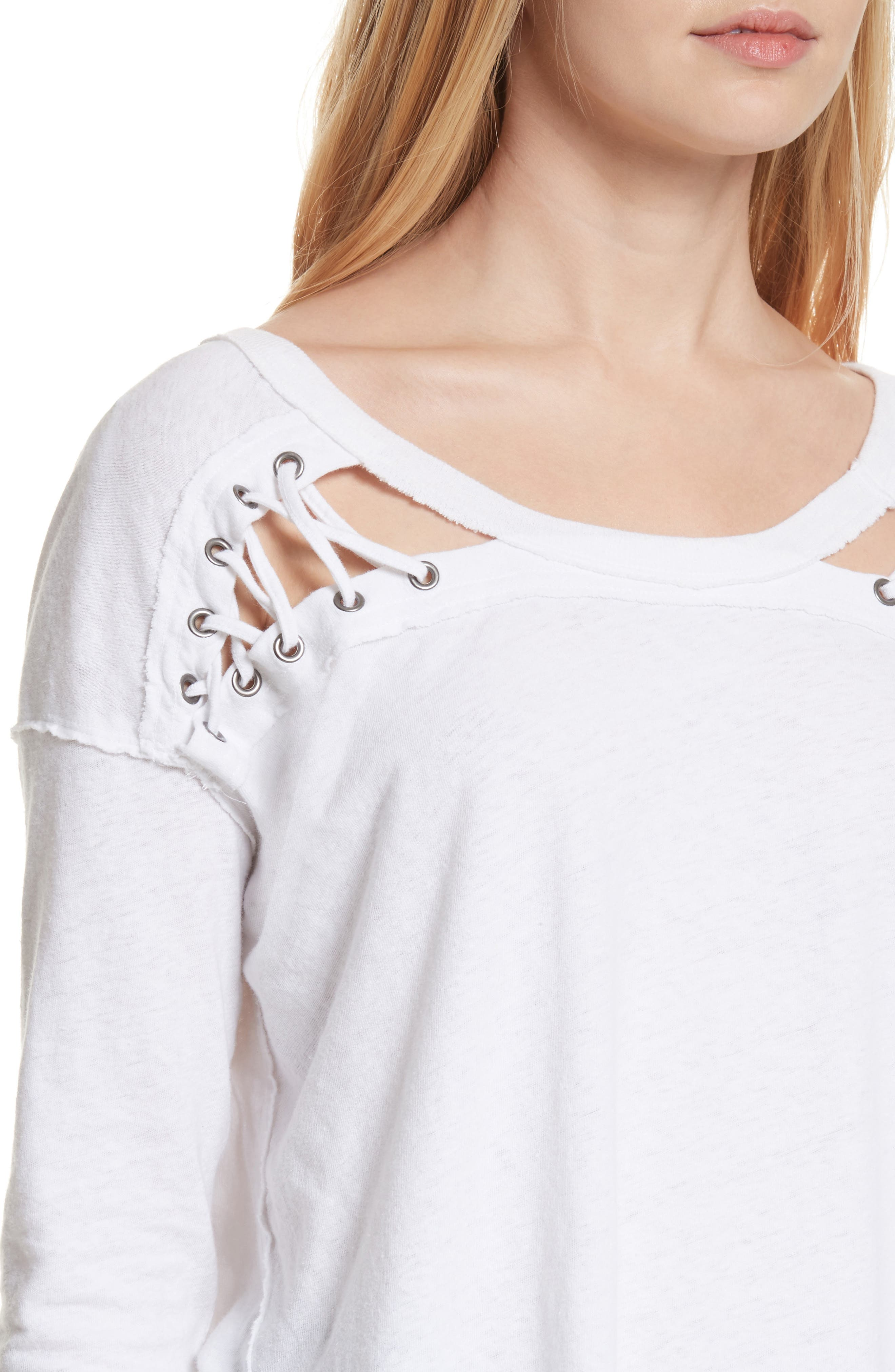First Love Lace-Up Tee,                             Alternate thumbnail 17, color,