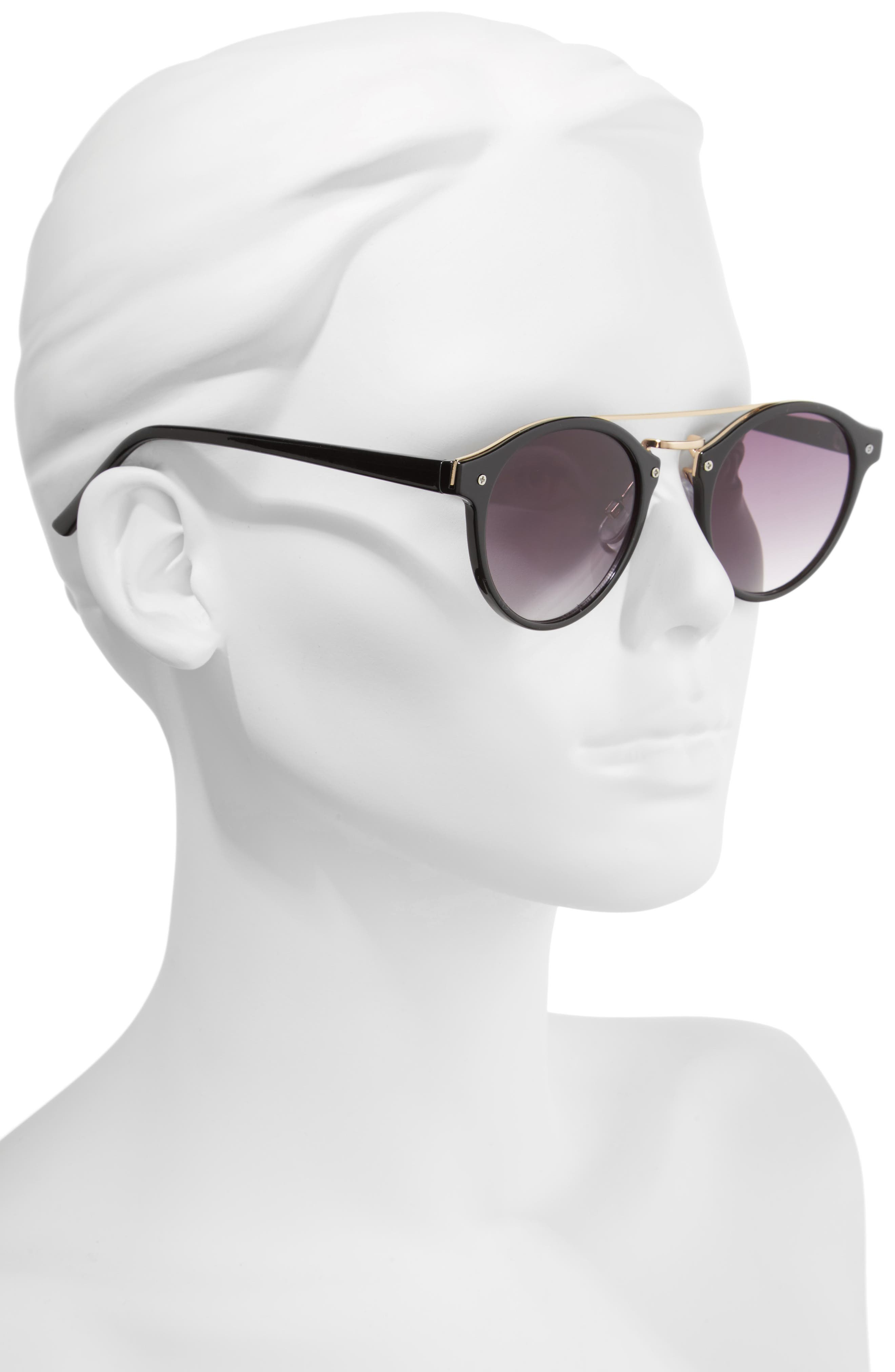 45mm Round Sunglasses,                             Alternate thumbnail 2, color,                             001