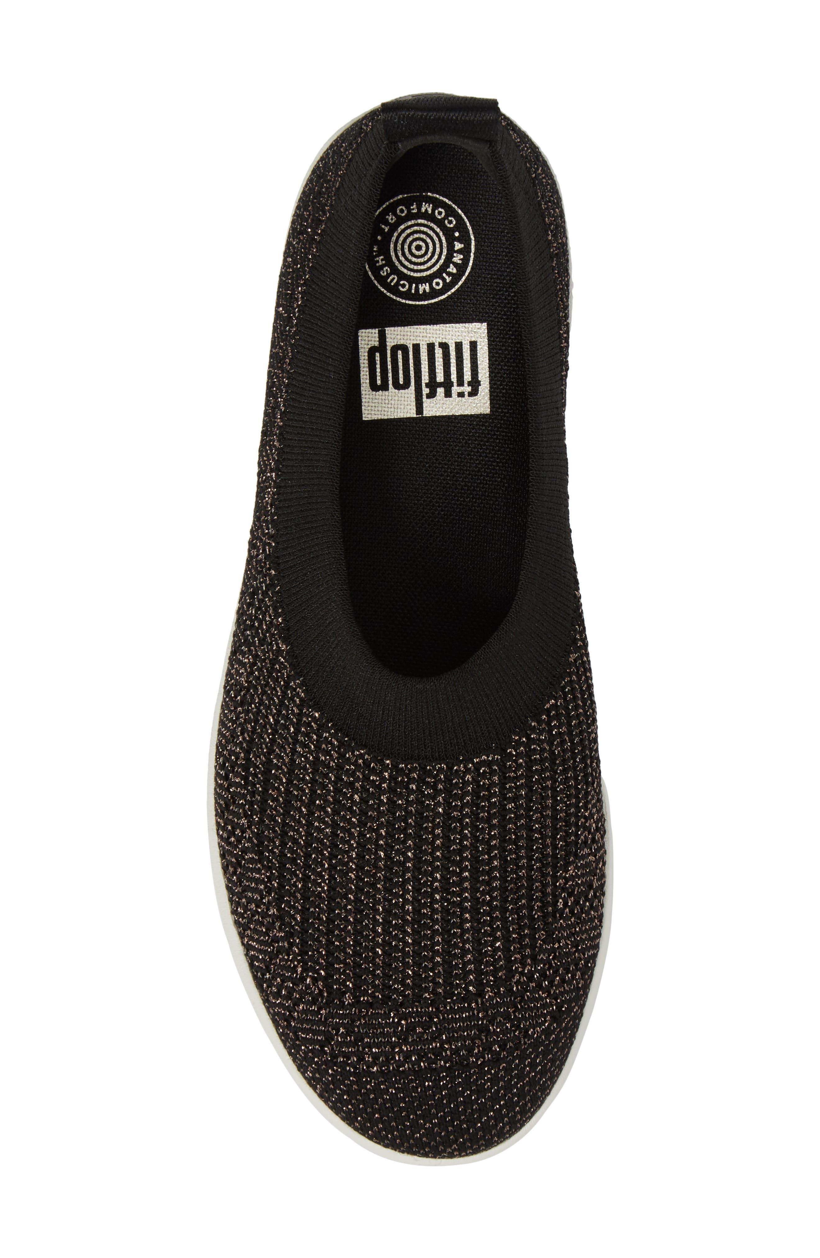 Uberknit<sup>™</sup> Slip-On Ballerina Sneaker,                             Alternate thumbnail 5, color,                             001