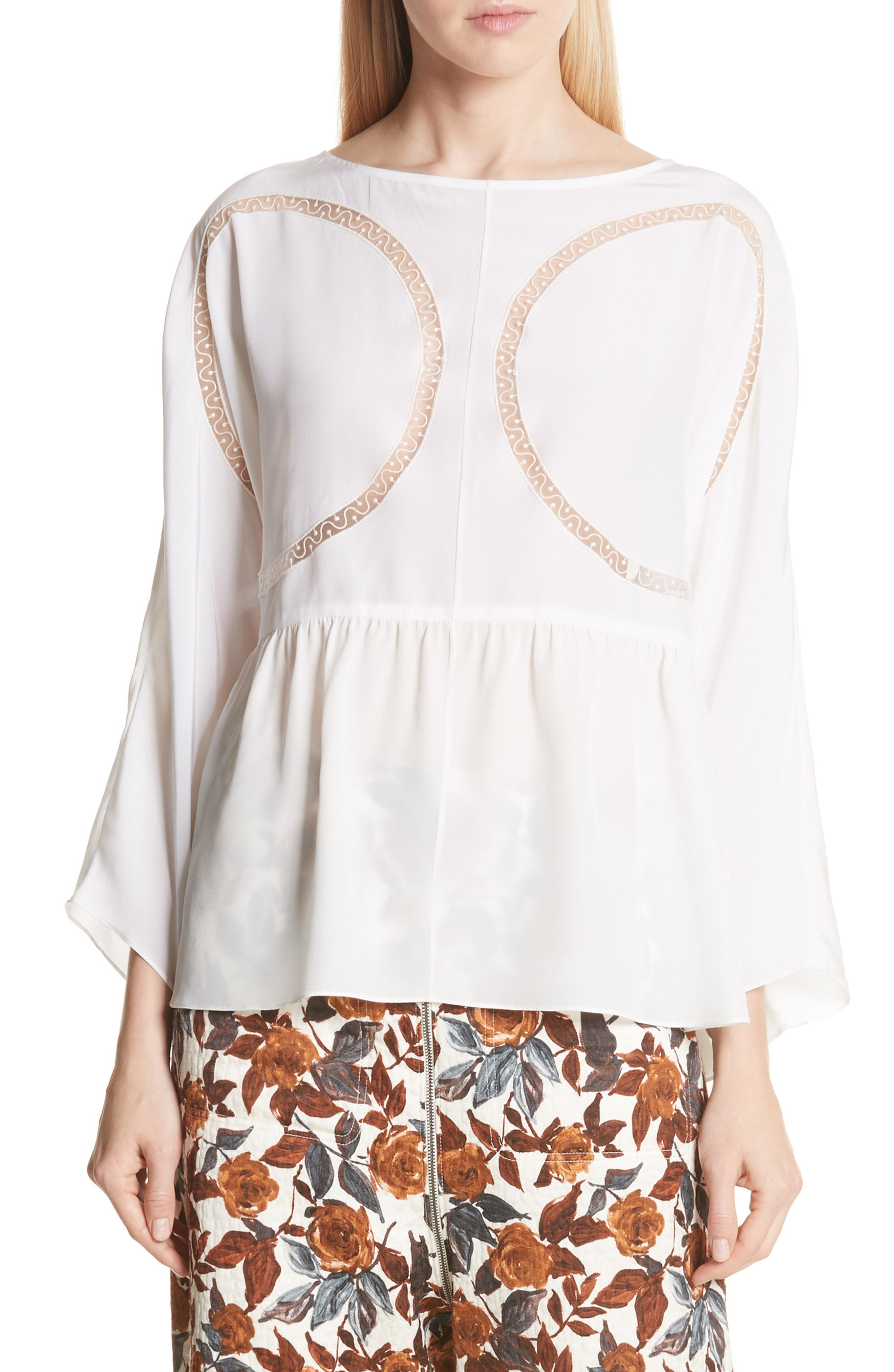 Astro Silk Blouse in Off White