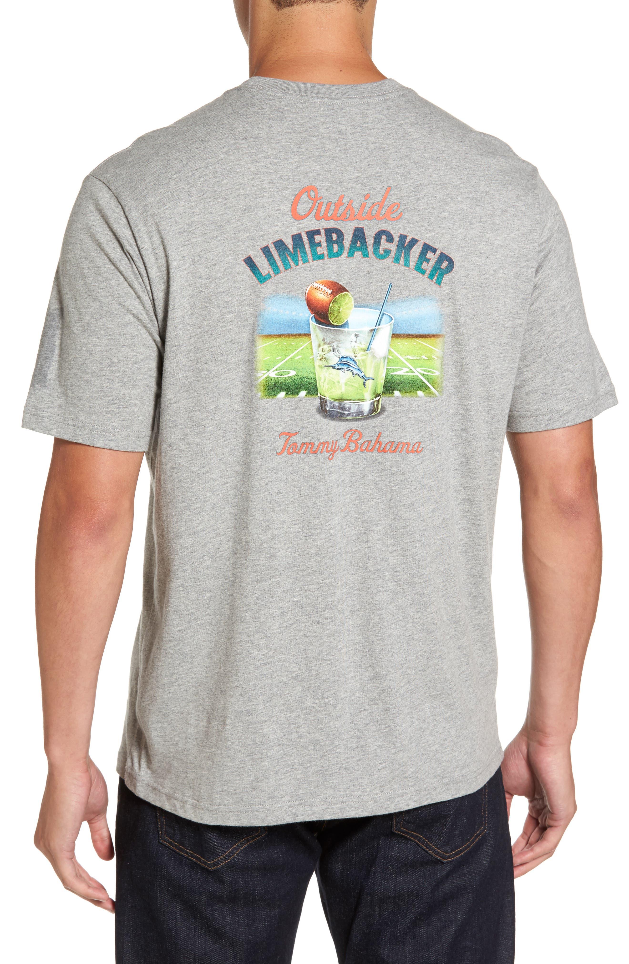 Outside Limebacker Standard Fit T-Shirt,                             Alternate thumbnail 2, color,                             051
