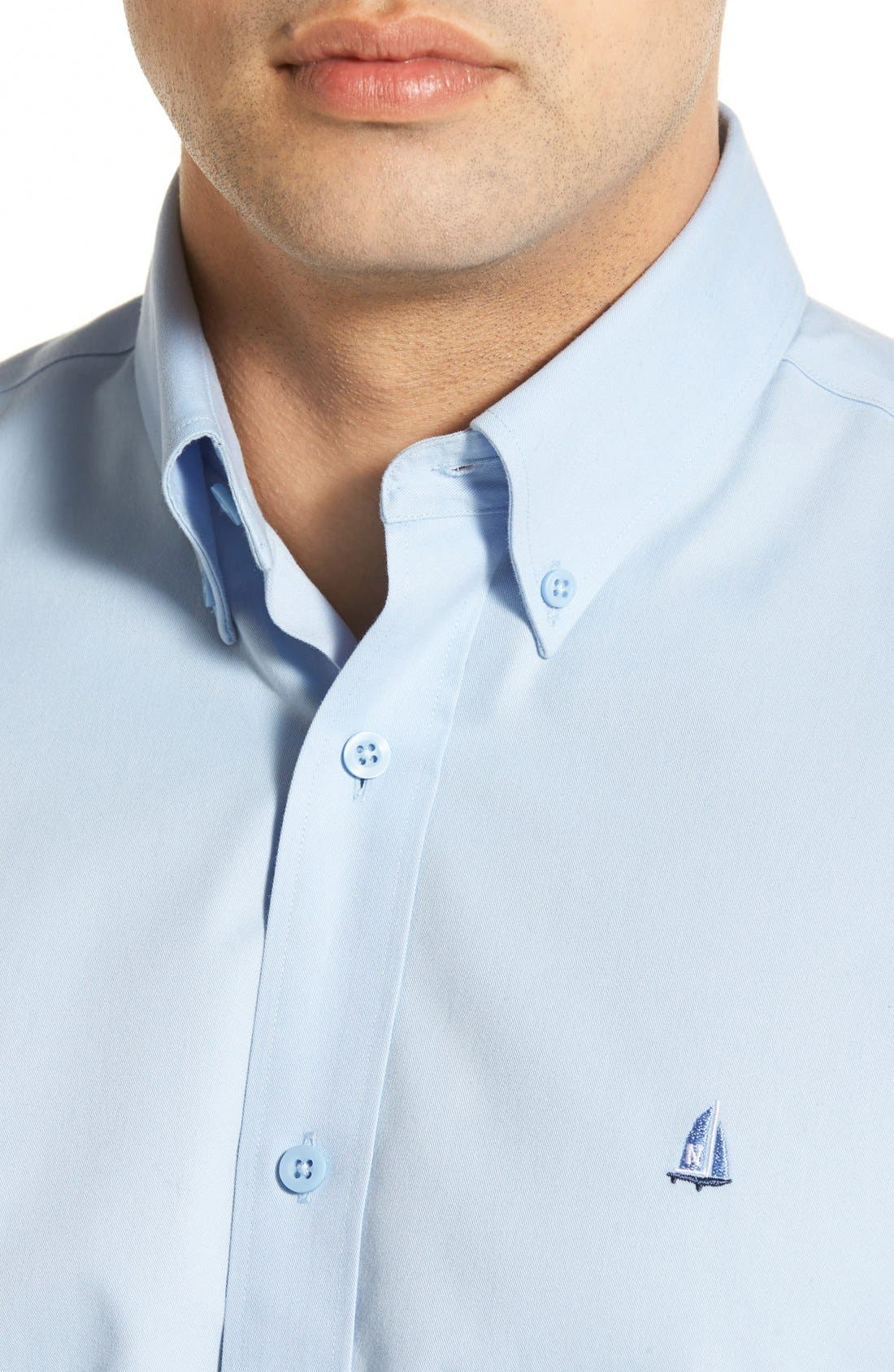 Smartcare<sup>™</sup> Traditional Fit Twill Boat Shirt,                             Alternate thumbnail 126, color,