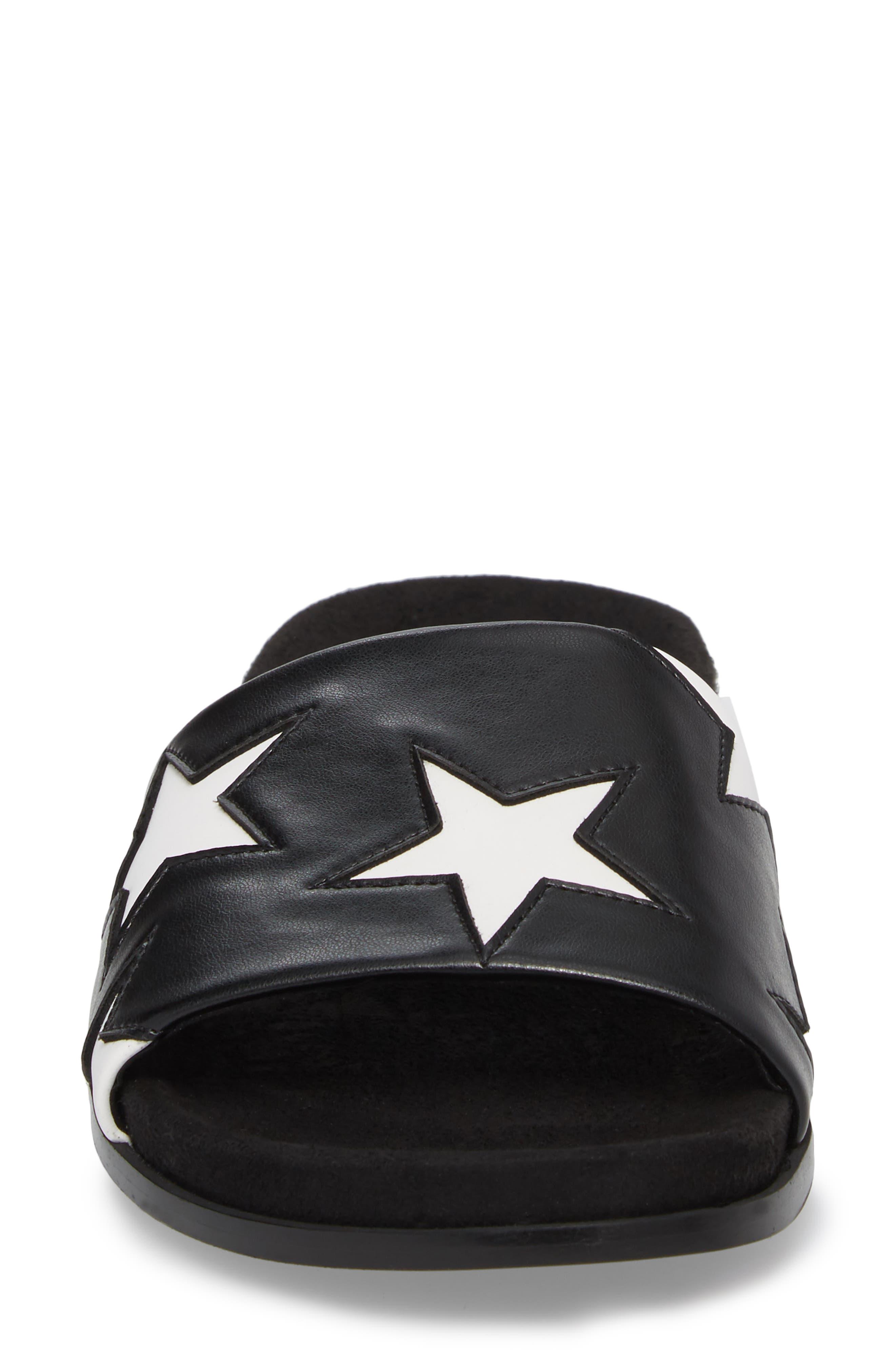 Star Slide Sandal,                             Alternate thumbnail 4, color,                             001