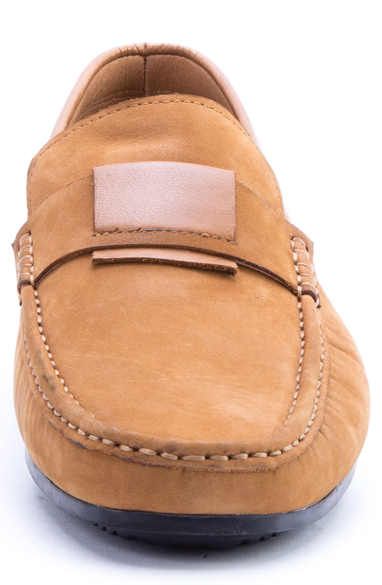 Seurat Driving Loafer,                             Alternate thumbnail 4, color,                             COGNAC SUEDE/ LEATHER