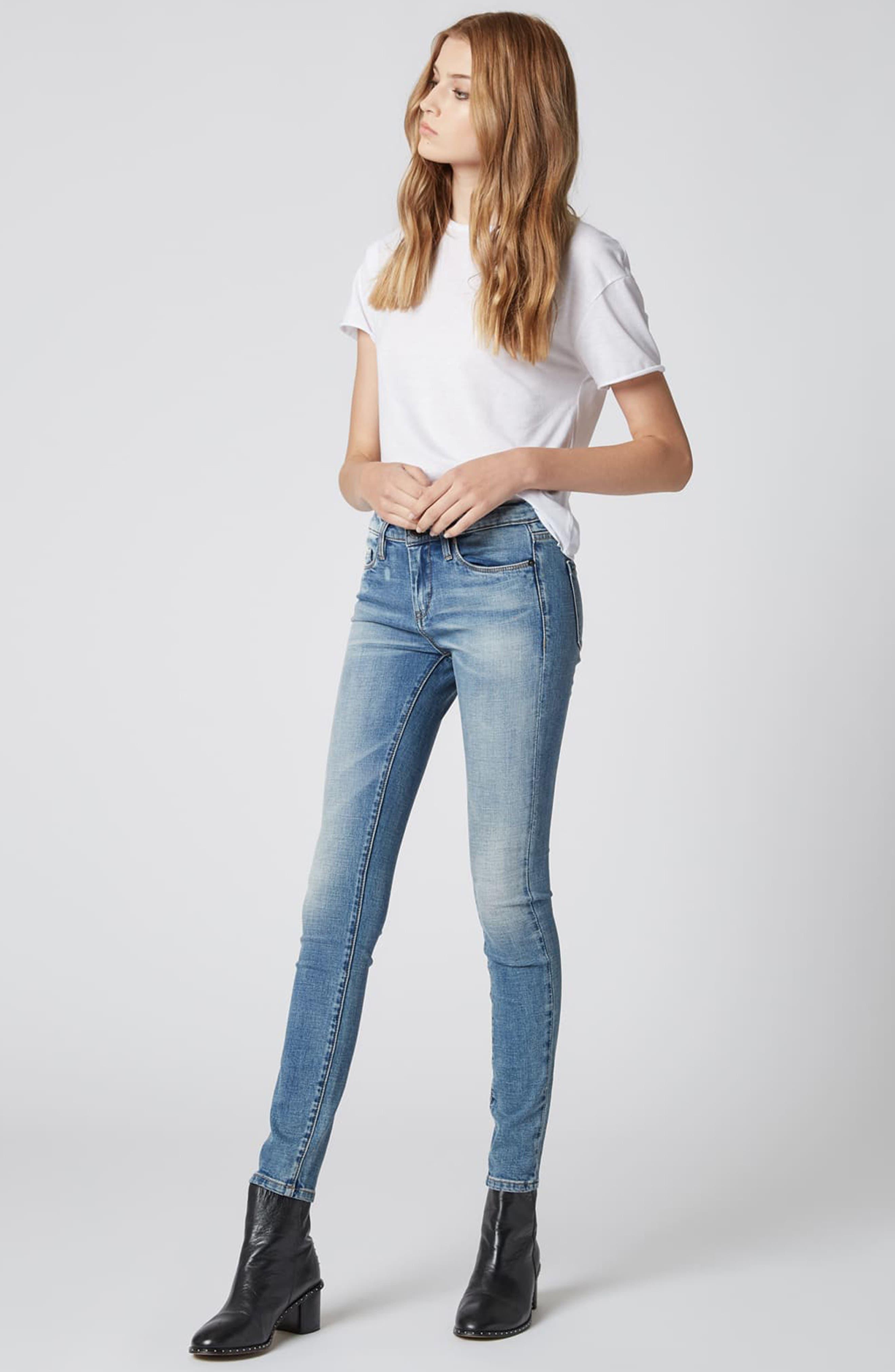 BLANKNYC,                             The Reade Skinny Jeans,                             Alternate thumbnail 4, color,                             LAGUNA BEACH
