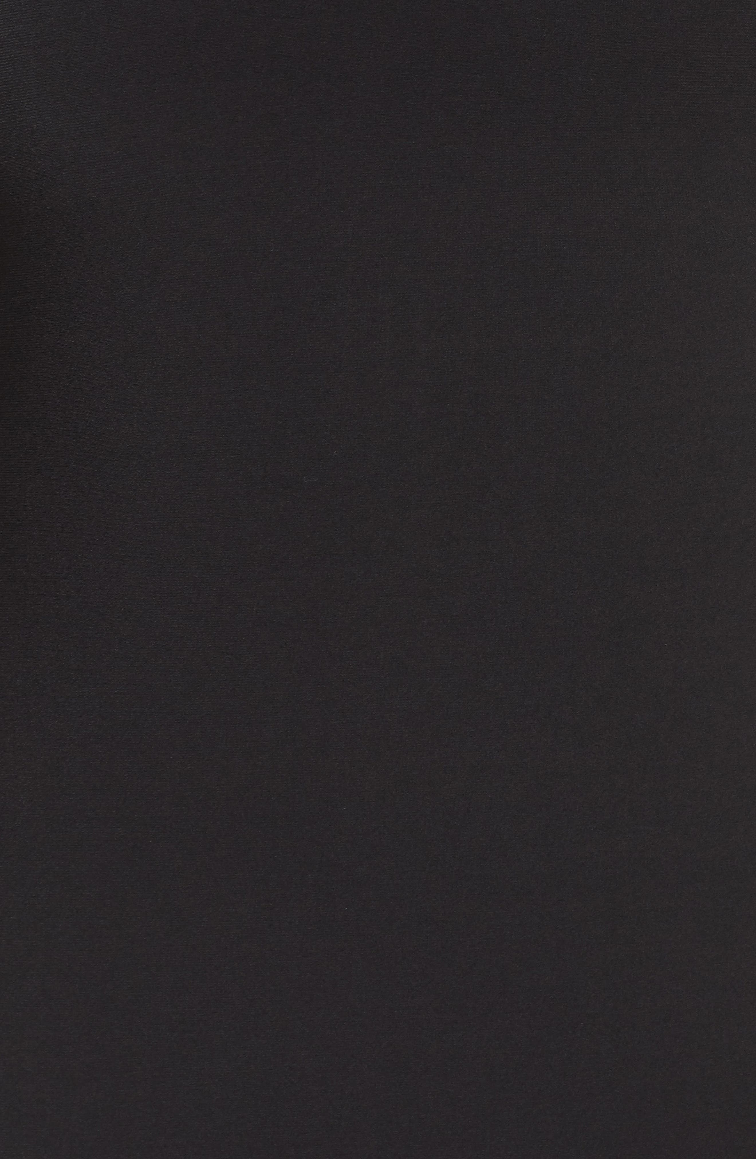 Pleat Chiffon Hem Jersey Dress,                             Alternate thumbnail 6, color,                             BLACK