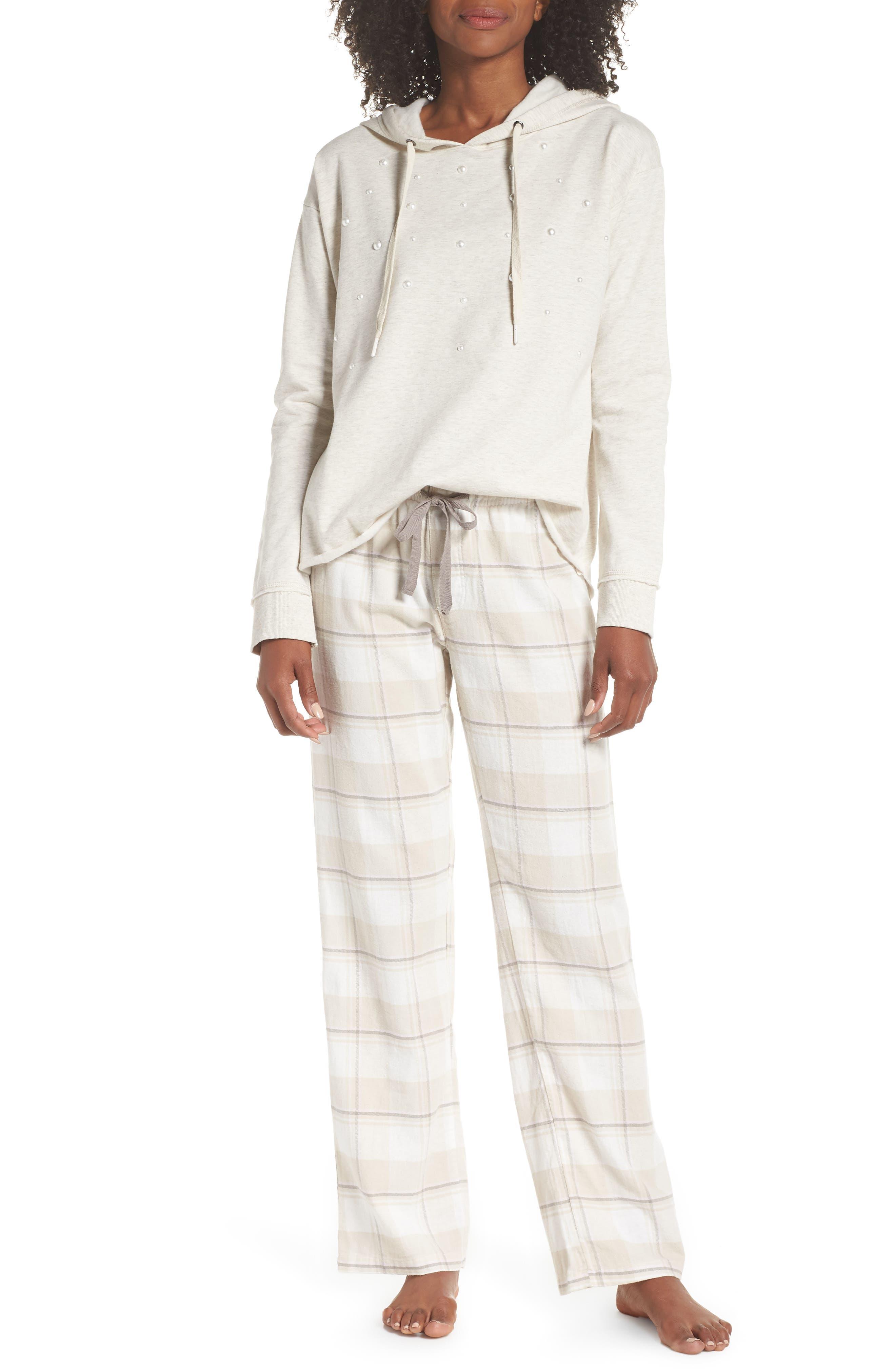 Plaid Pants,                             Alternate thumbnail 7, color,                             CHAMPAGNE