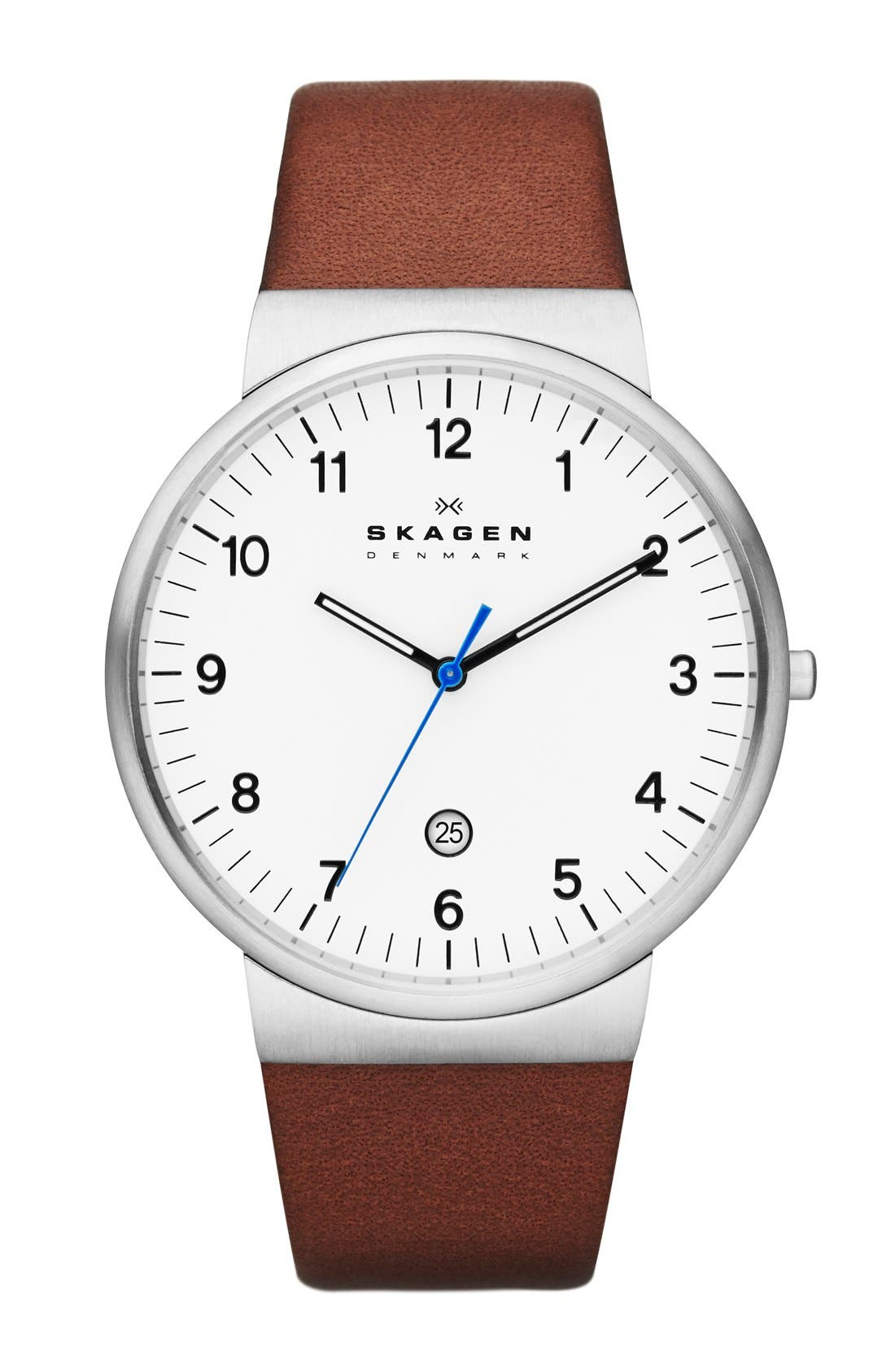 'Ancher' Round Leather Strap Watch, 40mm,                             Main thumbnail 2, color,