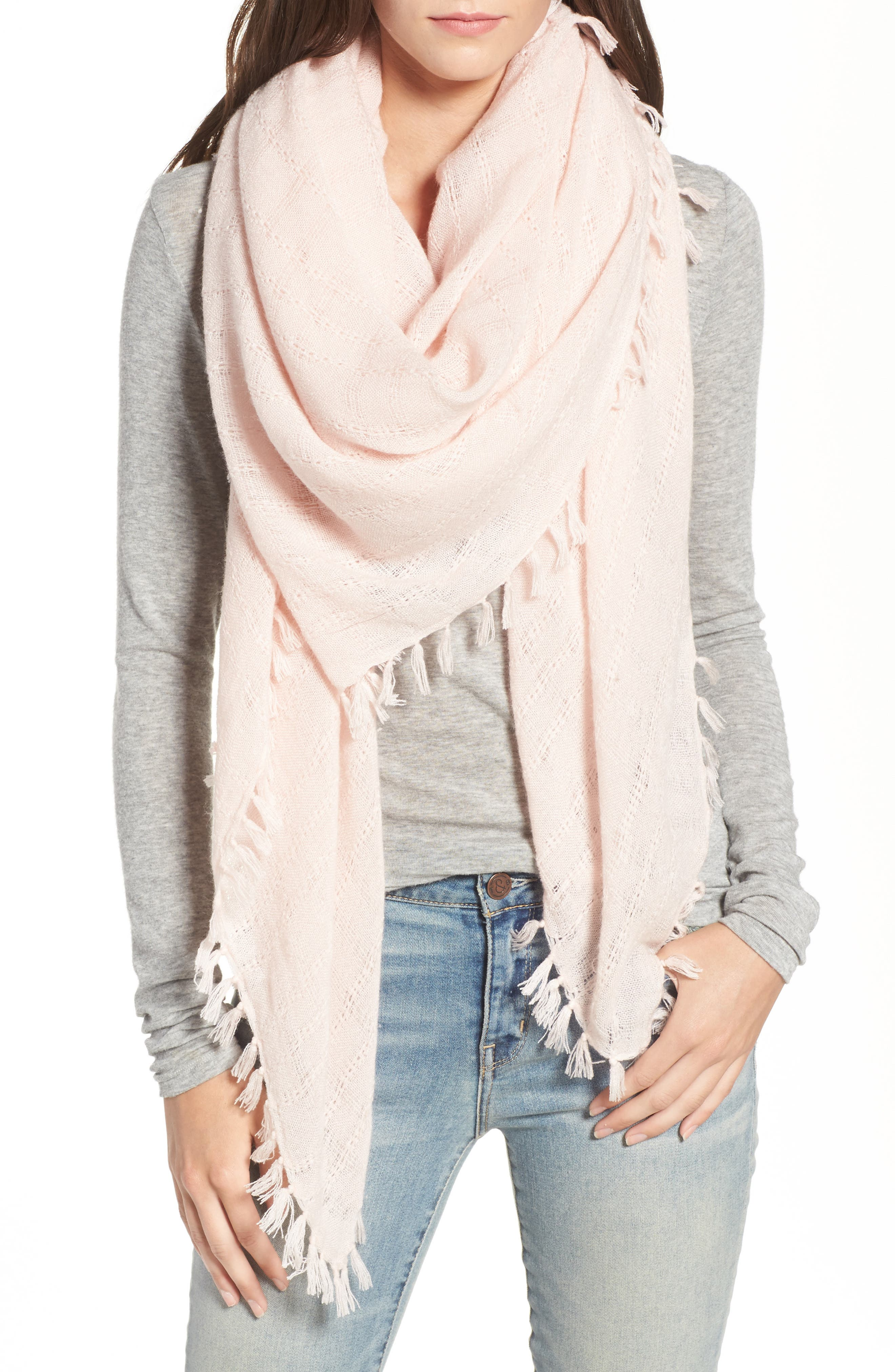 Knotted Tassel Scarf,                             Main thumbnail 4, color,