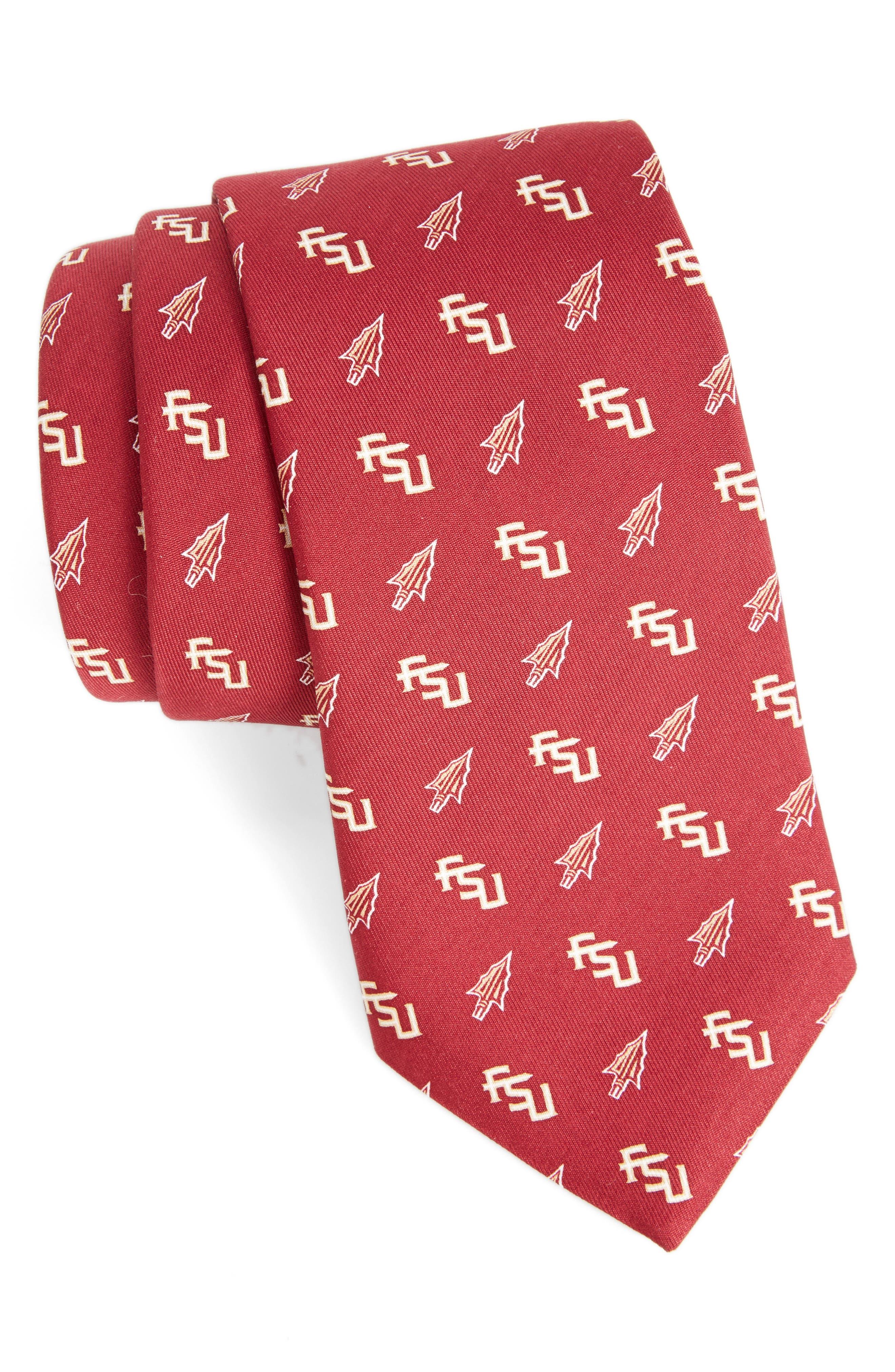 Florida State University Silk Tie,                             Main thumbnail 1, color,                             646