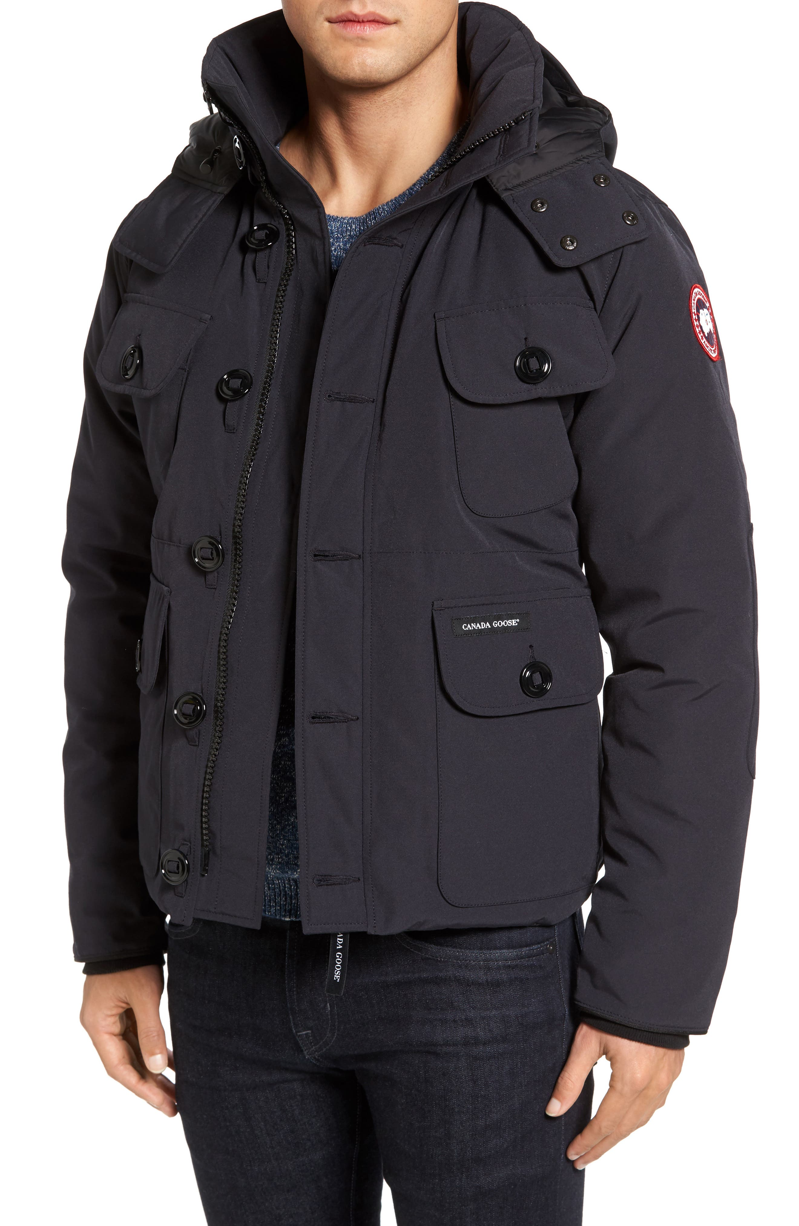 'Selkirk' Slim Fit Water Resistant Down Parka with Detachable Hood,                             Main thumbnail 4, color,