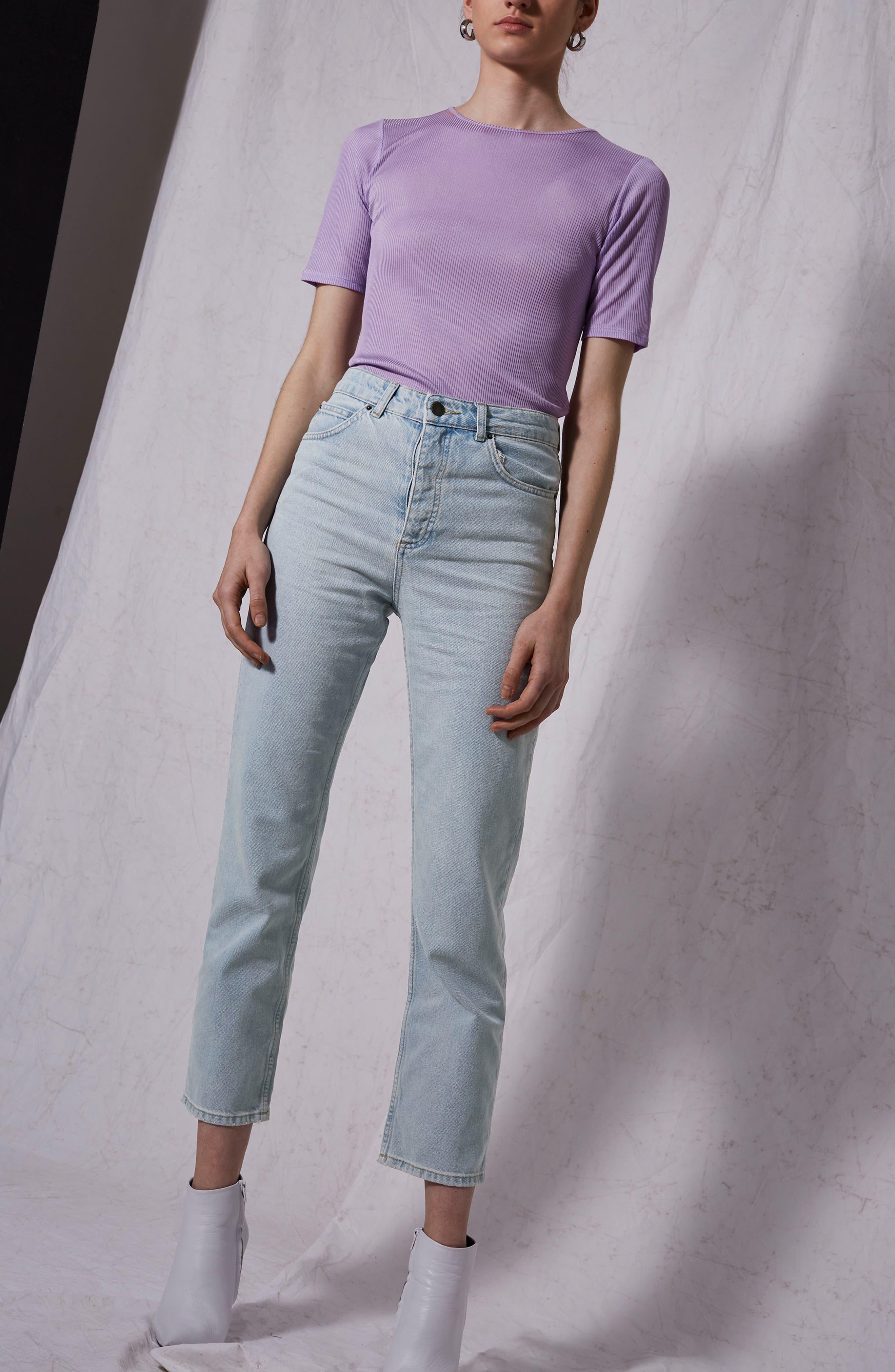 Boutique Bleach Denim Jeans,                             Alternate thumbnail 5, color,