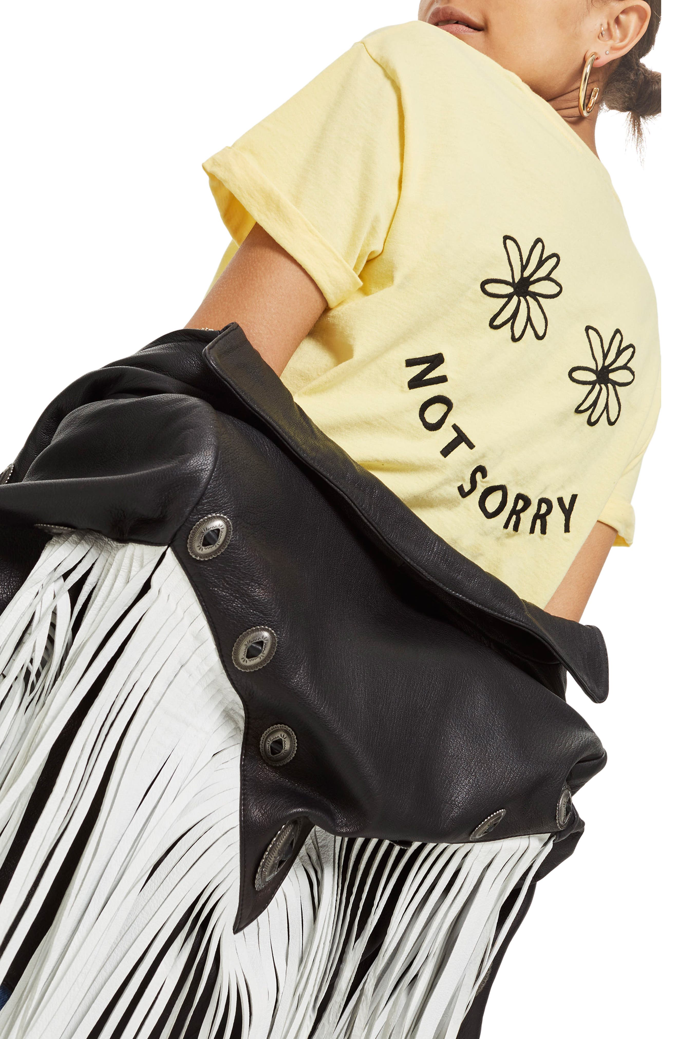 Sorry Not Sorry Slogan T-Shirt,                             Alternate thumbnail 3, color,                             700