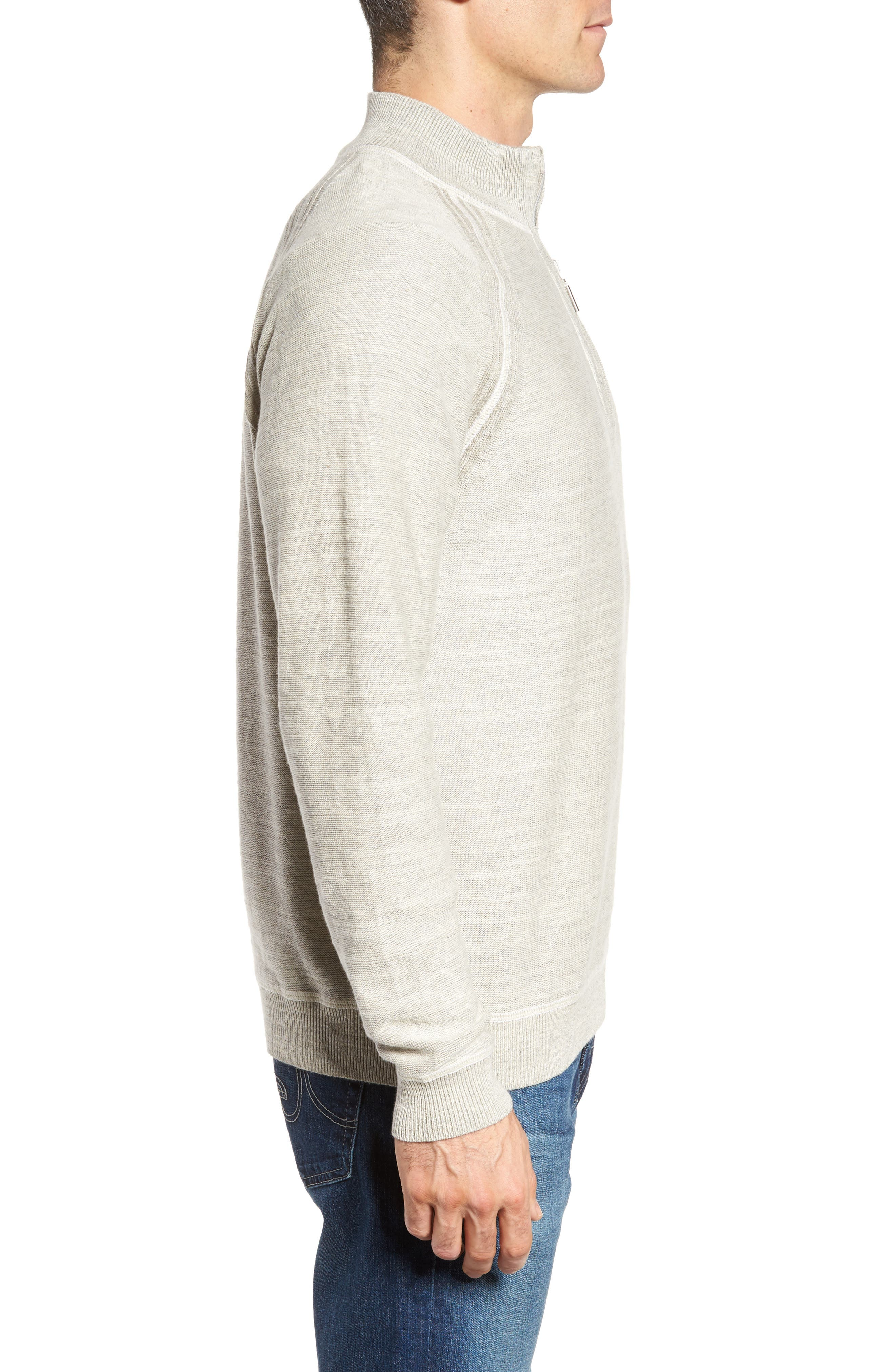Sandy Bay Half-Zip Pullover,                             Alternate thumbnail 3, color,                             200