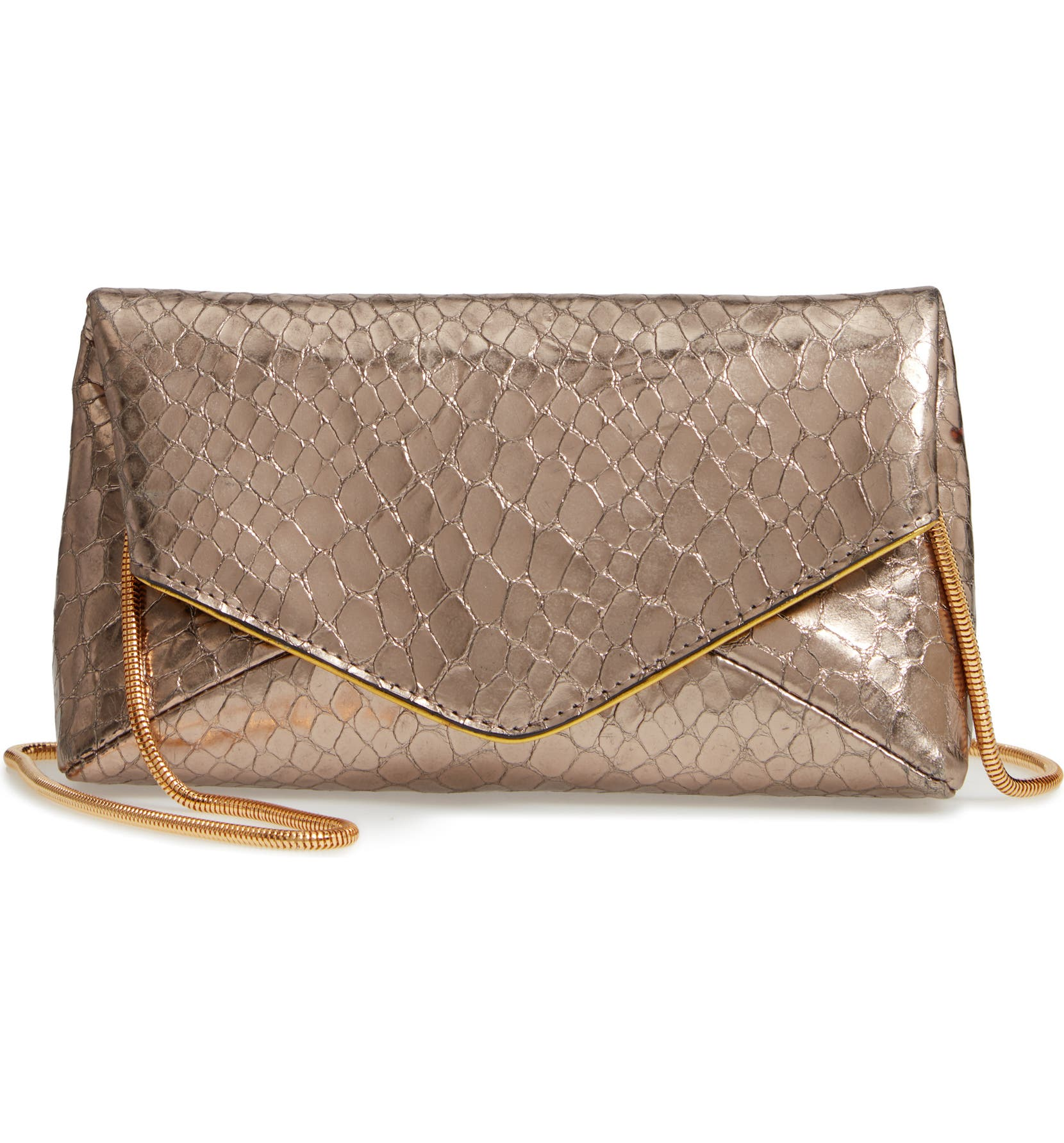 Dries Van Noten Snake Embossed Leather Envelope Clutch  7e0967a7e6937