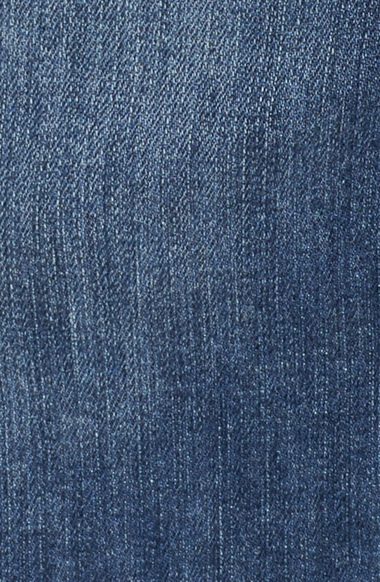 Distressed Denim Jacket,                             Alternate thumbnail 5, color,                             400