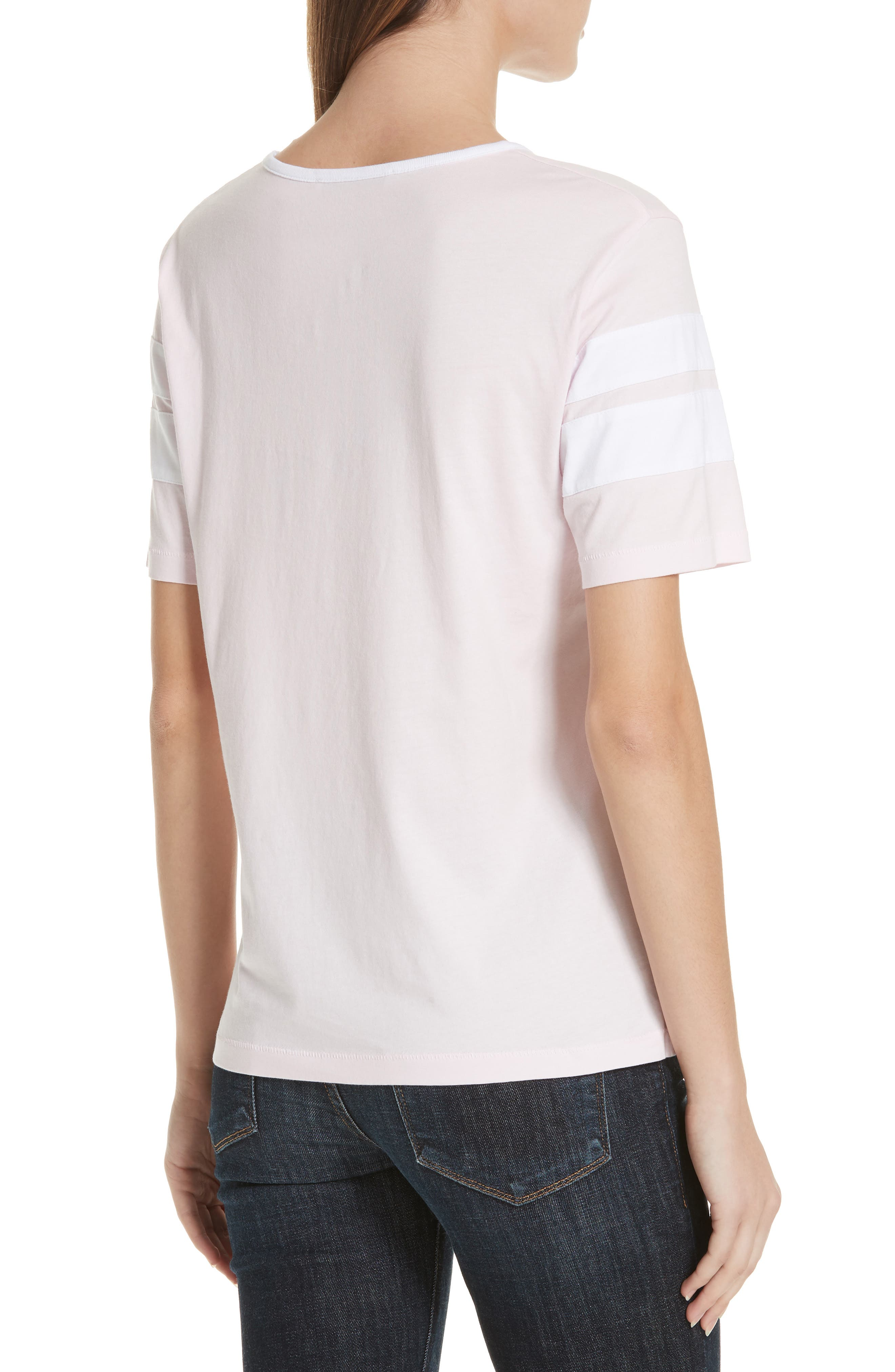 Double Stripe Cotton Tee,                             Alternate thumbnail 2, color,                             650