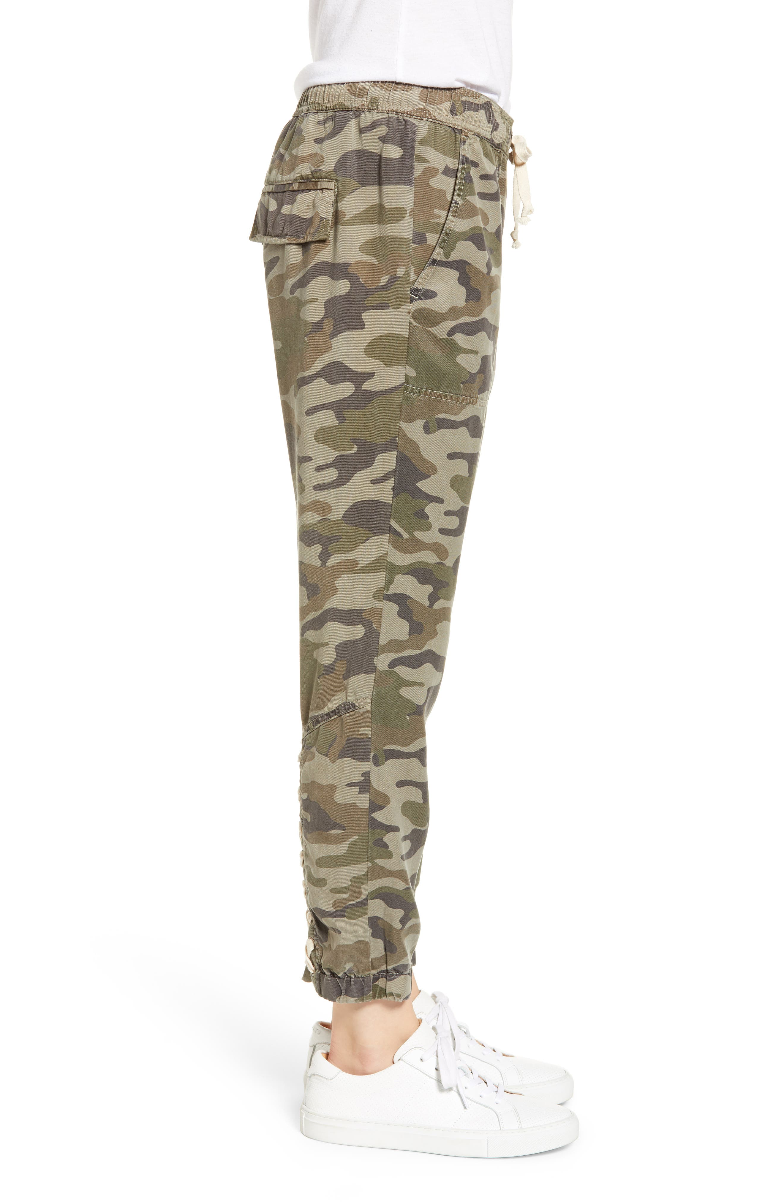 Clay Camo Lace-Up Pants,                             Alternate thumbnail 3, color,                             CLAY CAMO