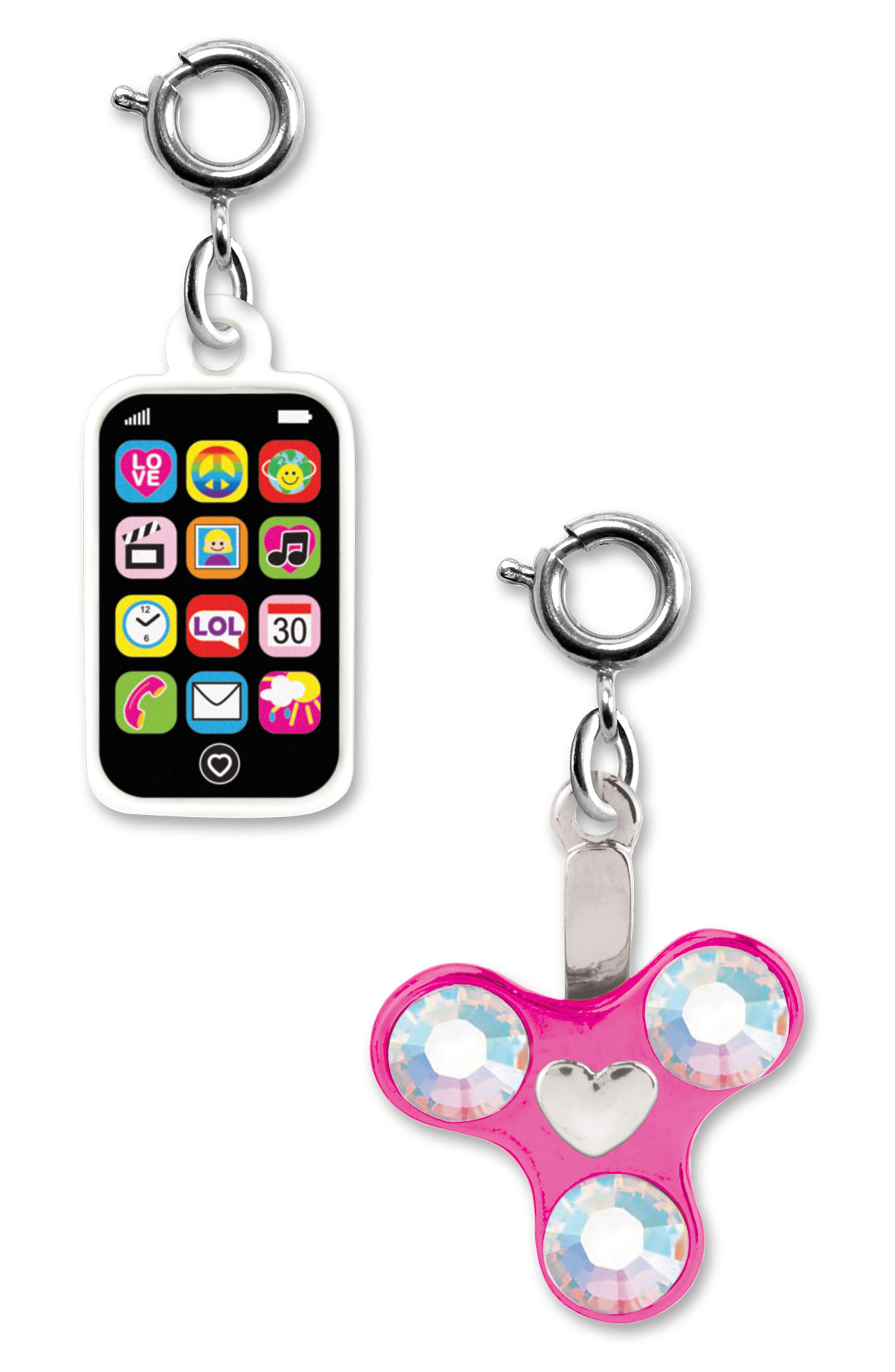 CHARM IT!<sup>®</sup> 2-Pack Phone & Spinner Charms,                             Alternate thumbnail 2, color,                             MULTI