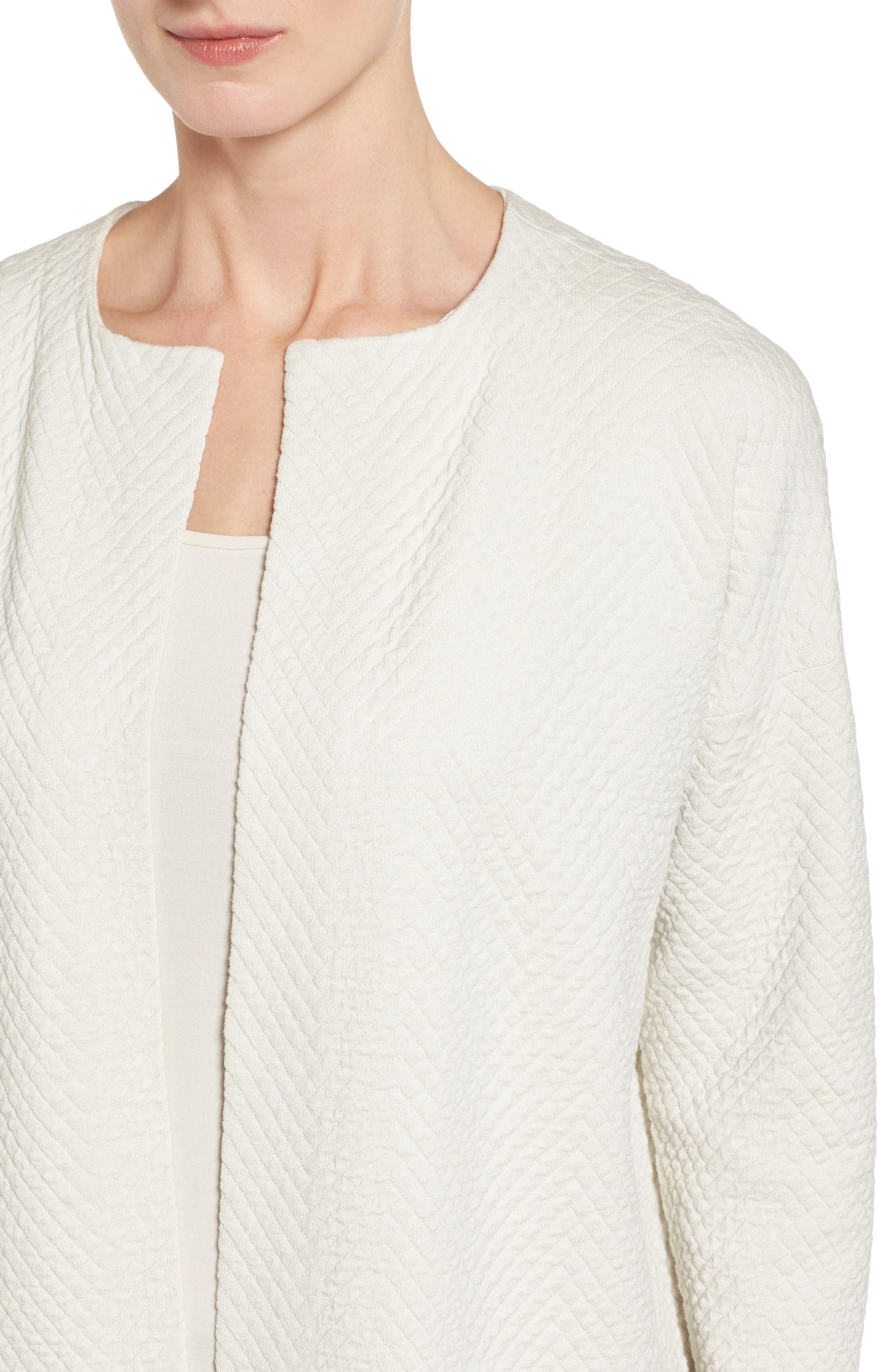 Silk Blend Jacquard Jacket,                             Alternate thumbnail 4, color,                             100