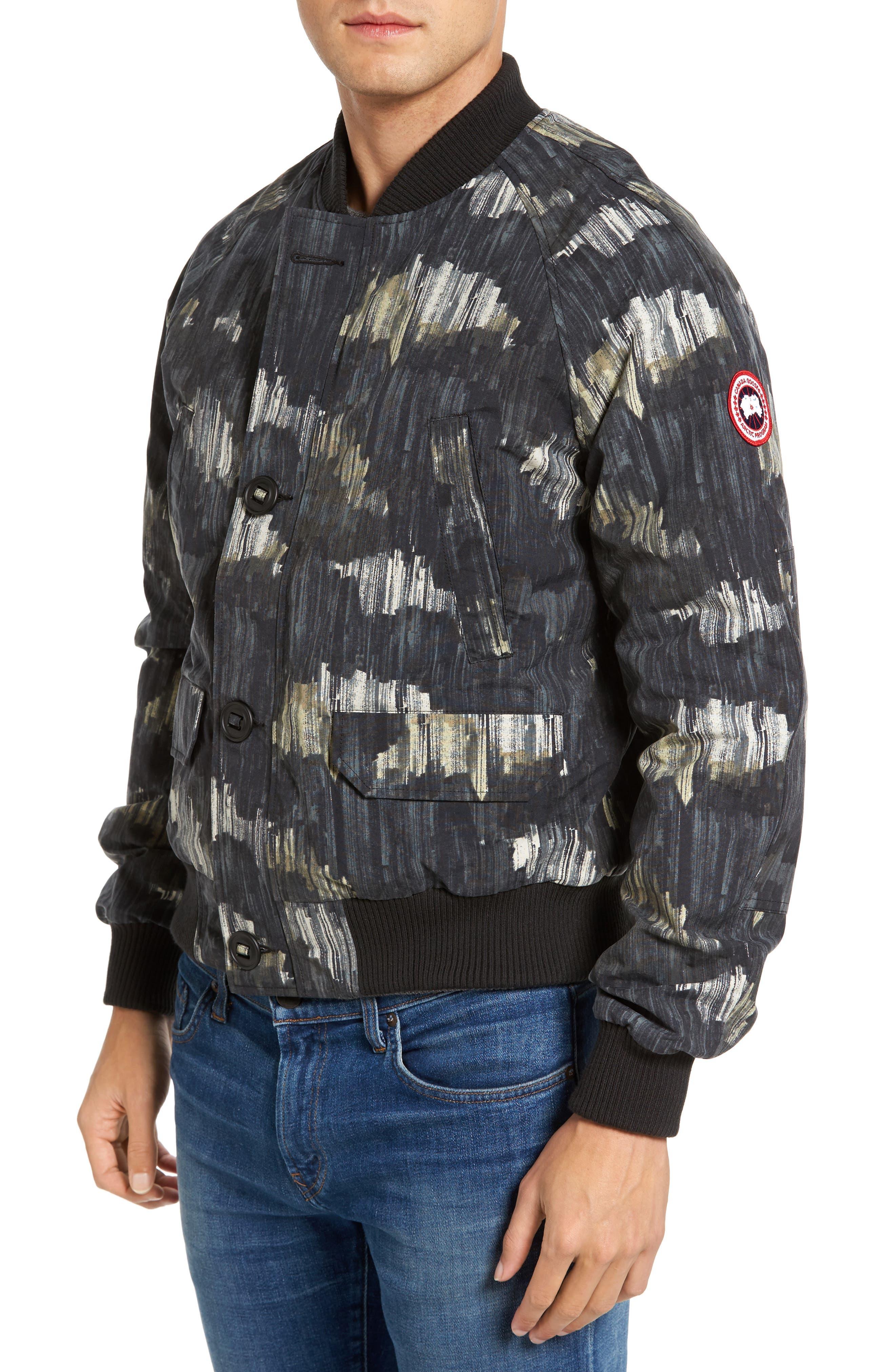 Faber Slim Fit Bomber Jacket,                         Main,                         color, NOCTURNE PRINT