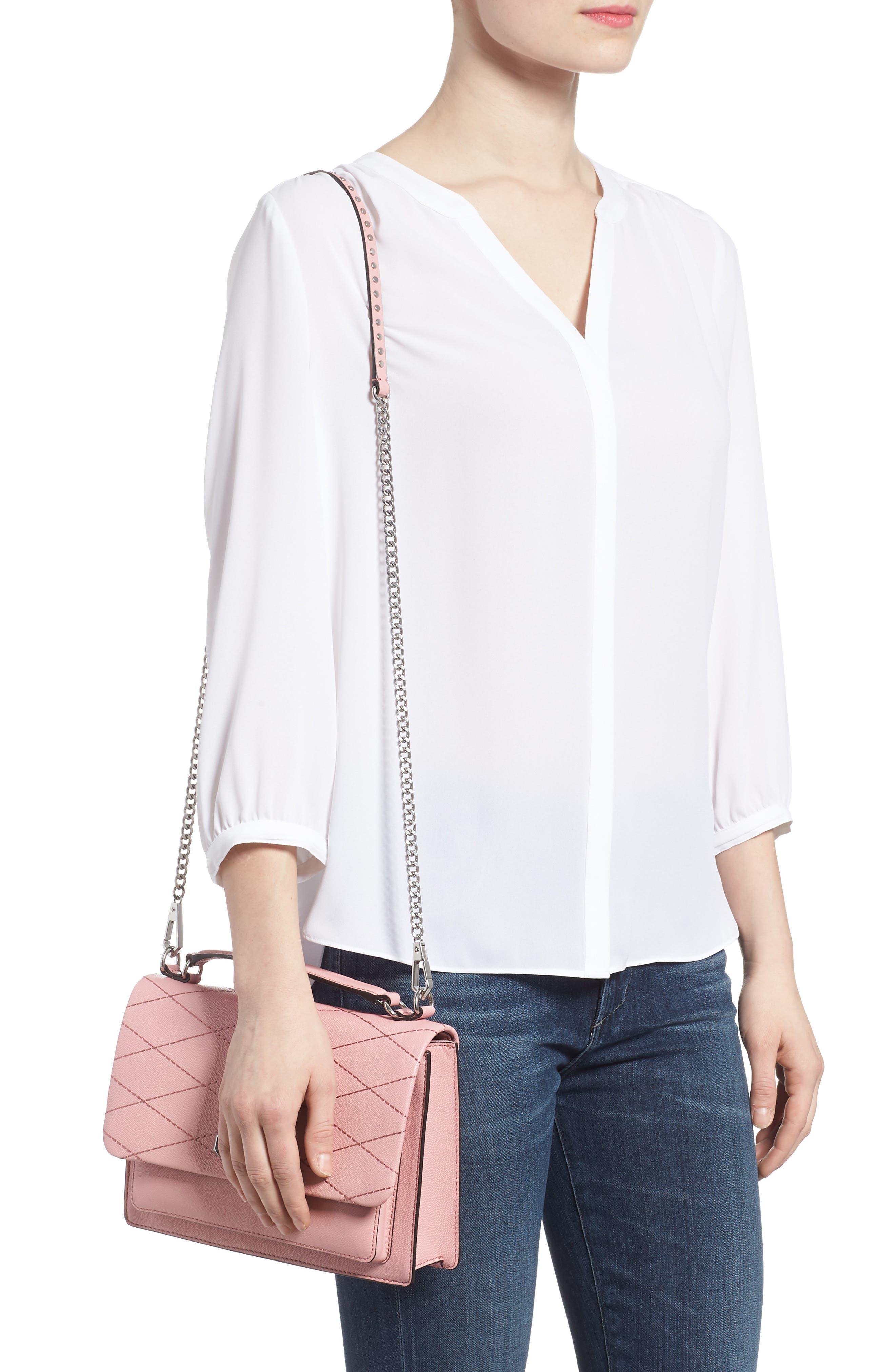 Medium Je T'aime Convertible Leather Crossbody Bag,                             Alternate thumbnail 19, color,