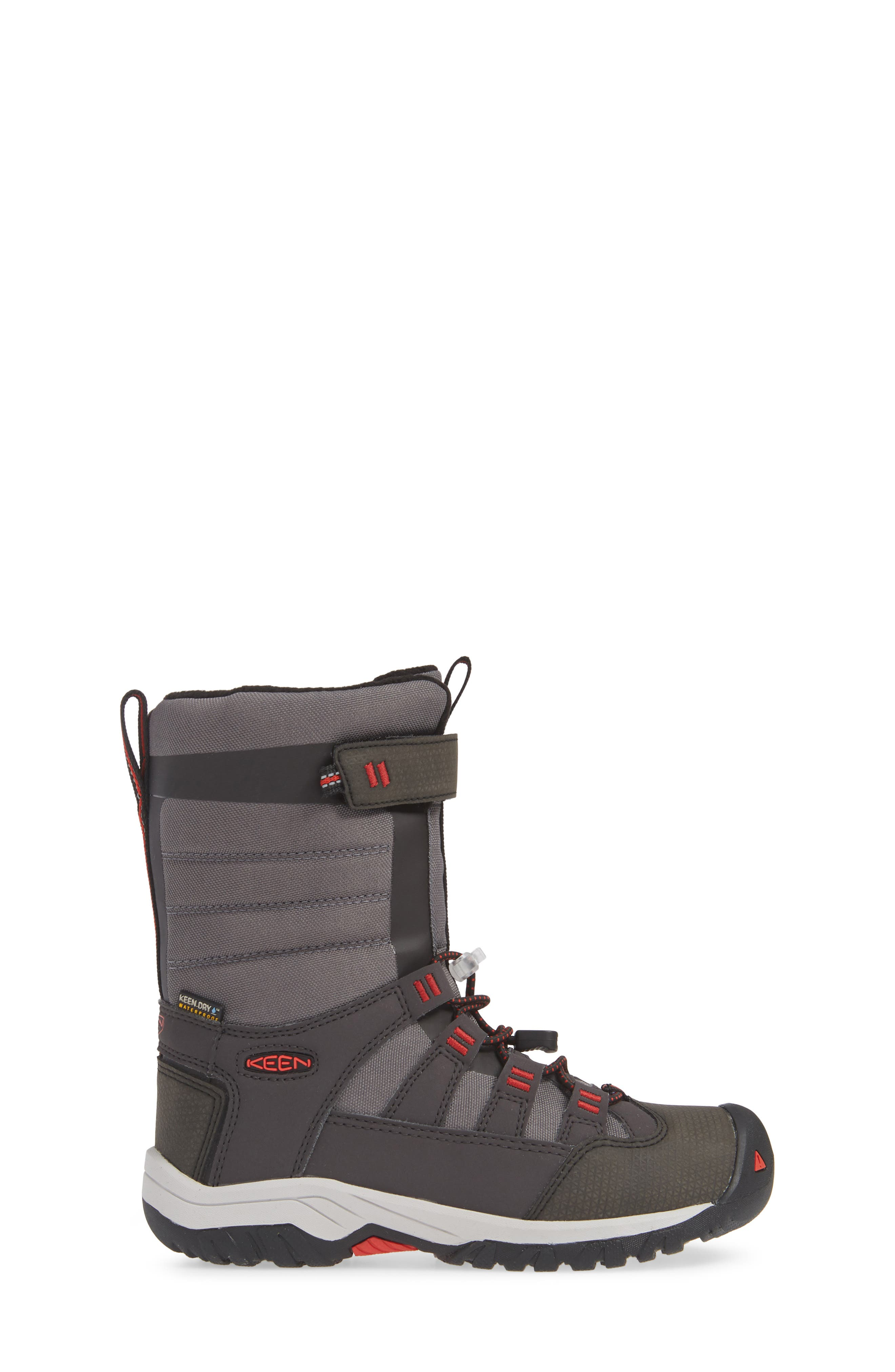 Winterport Neo Waterproof Insulated Boot,                             Alternate thumbnail 3, color,                             MAGNET/ FIREY RED