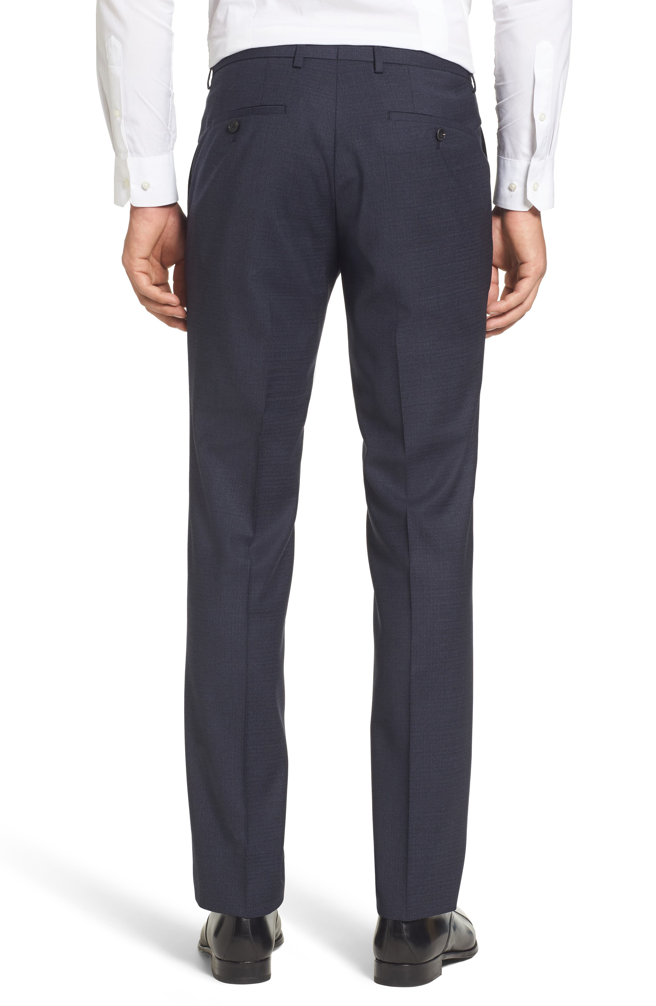 Leenon Classic Fit Plaid Stretch Wool Trousers,                             Alternate thumbnail 3, color,