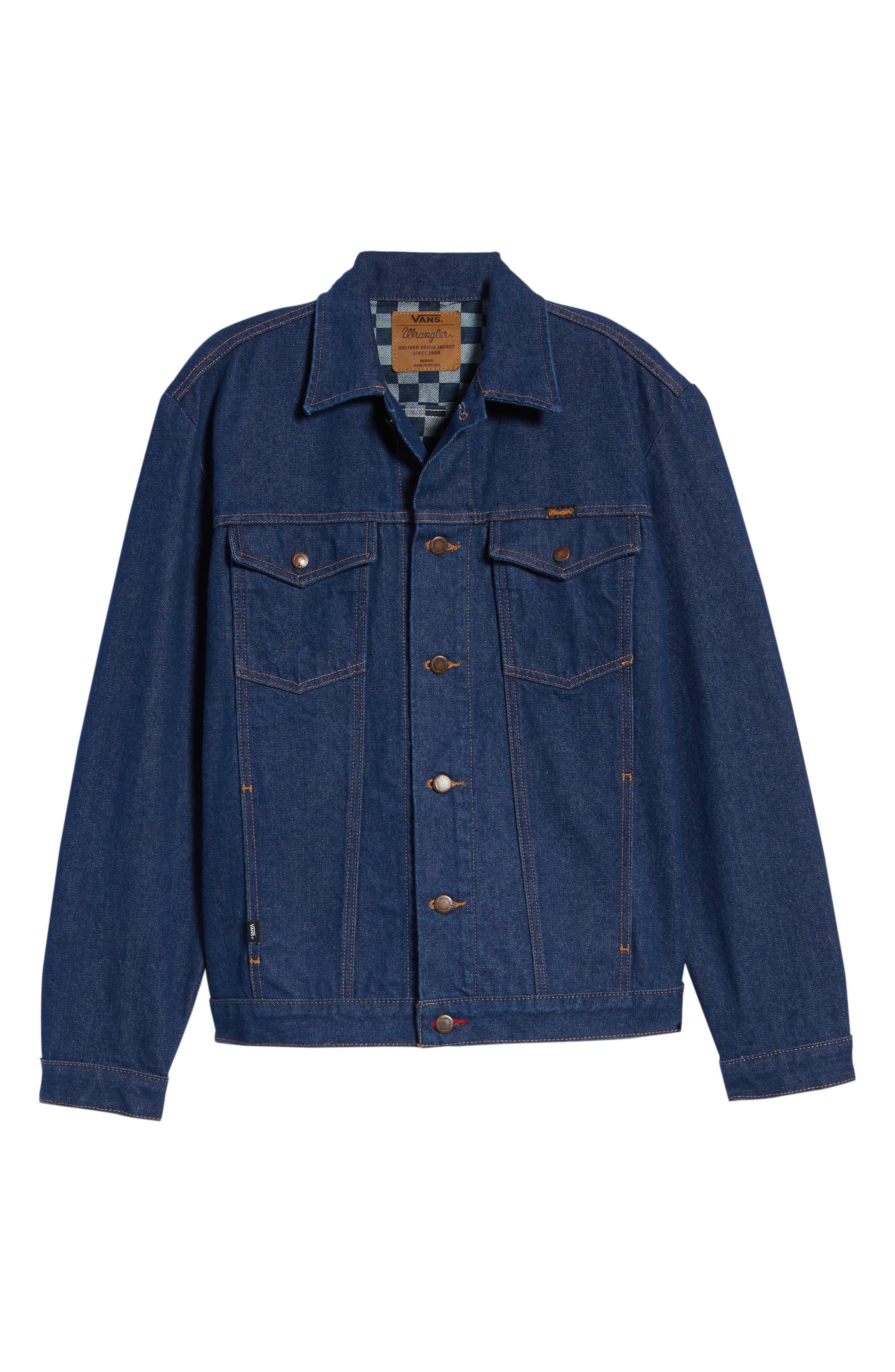 x Wrangler Denim Jacket,                             Alternate thumbnail 6, color,                             401