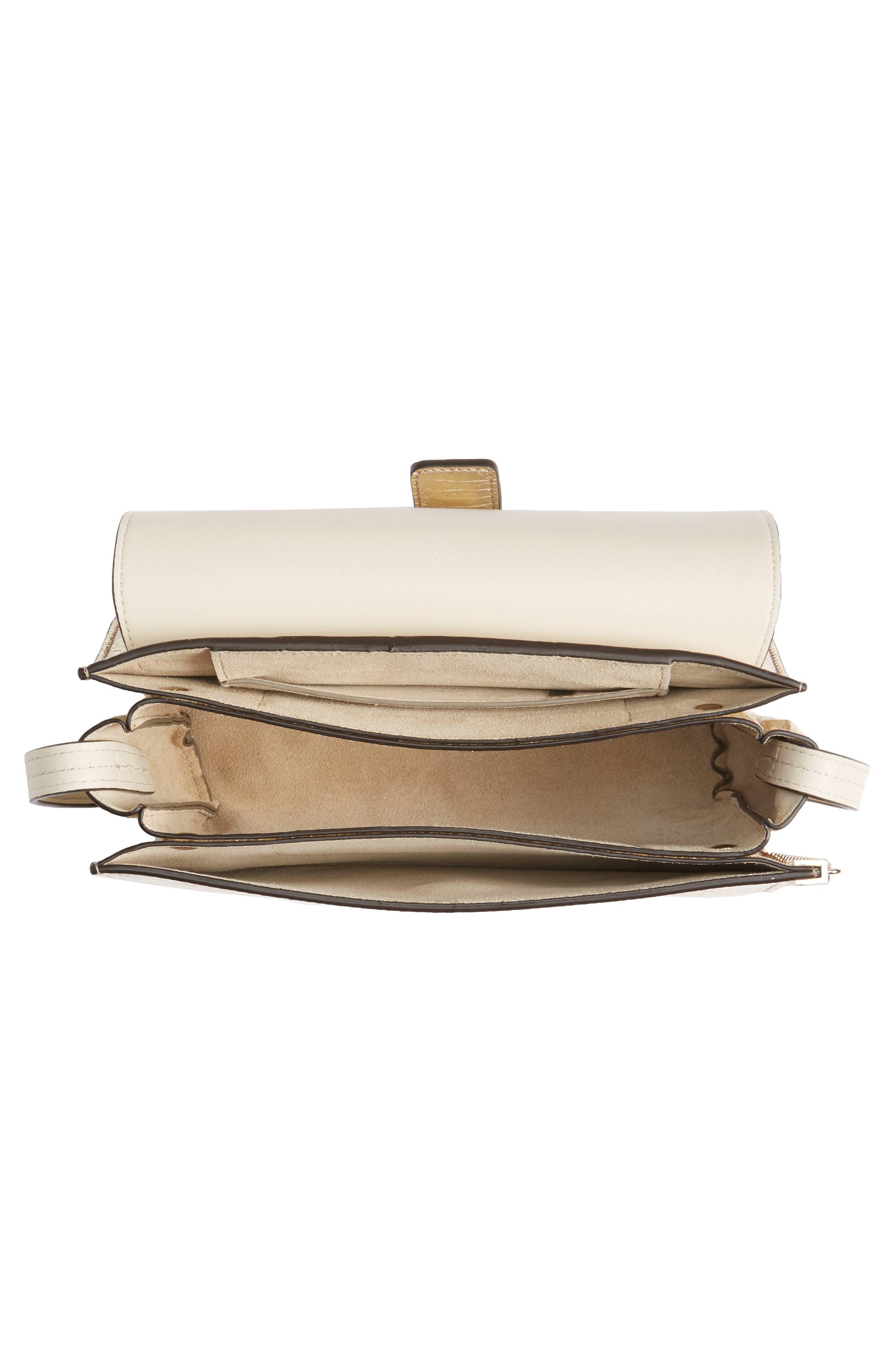 Small Faye Metallic Leather Shoulder Bag,                             Alternate thumbnail 4, color,                             GOLD