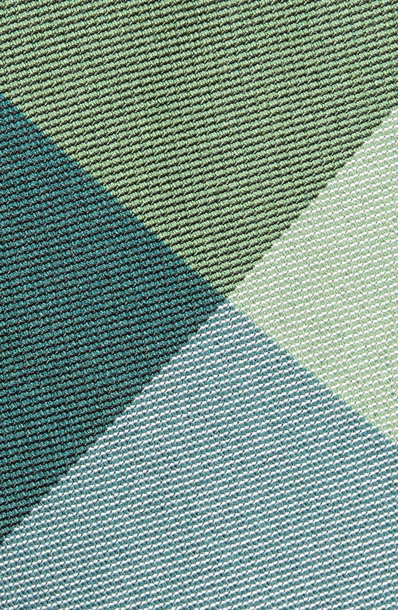 West Bison Plaid Wool & Silk Skinny Tie,                             Alternate thumbnail 2, color,                             300
