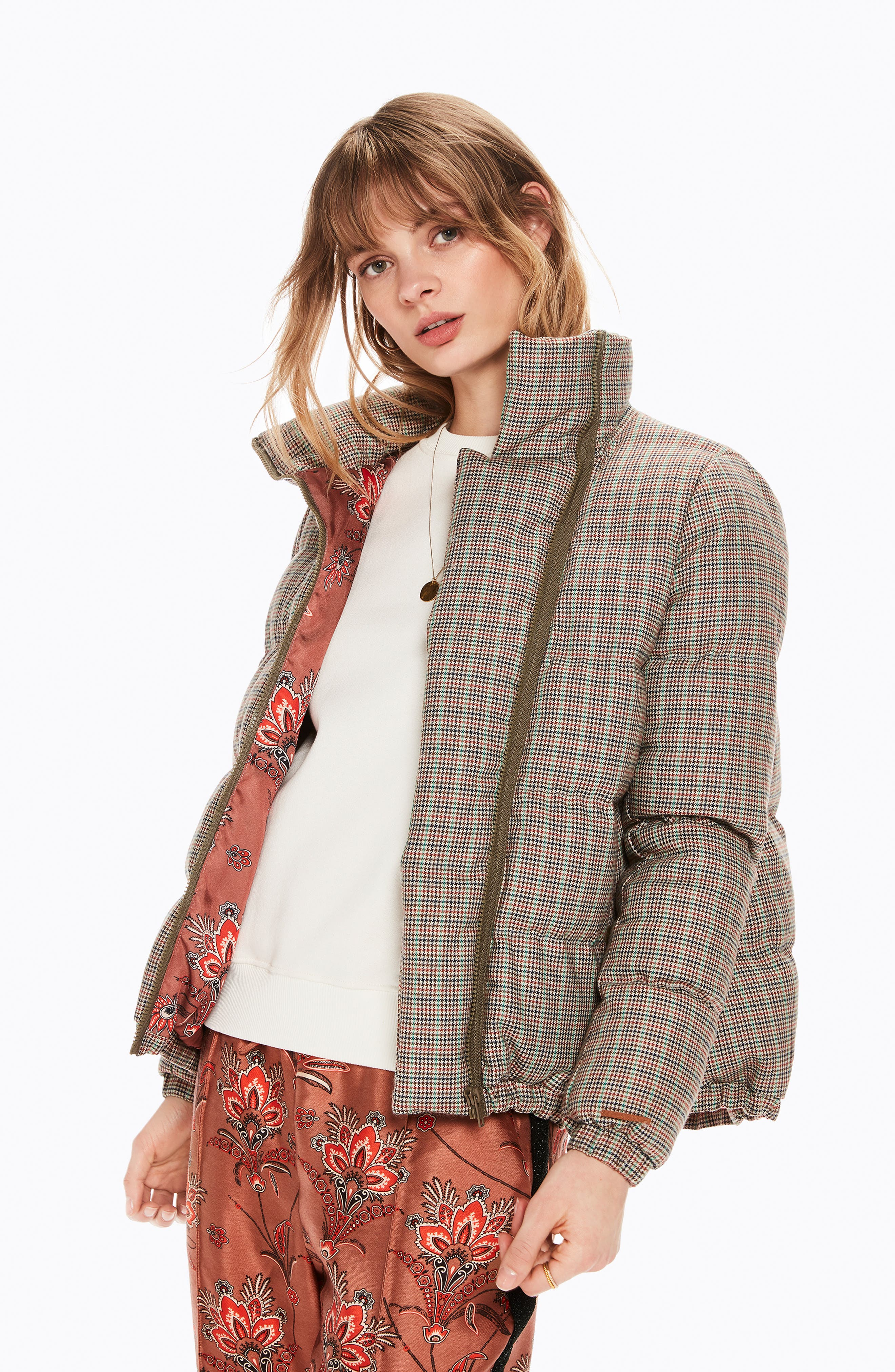 Quilted Check Jacket,                             Alternate thumbnail 4, color,                             250