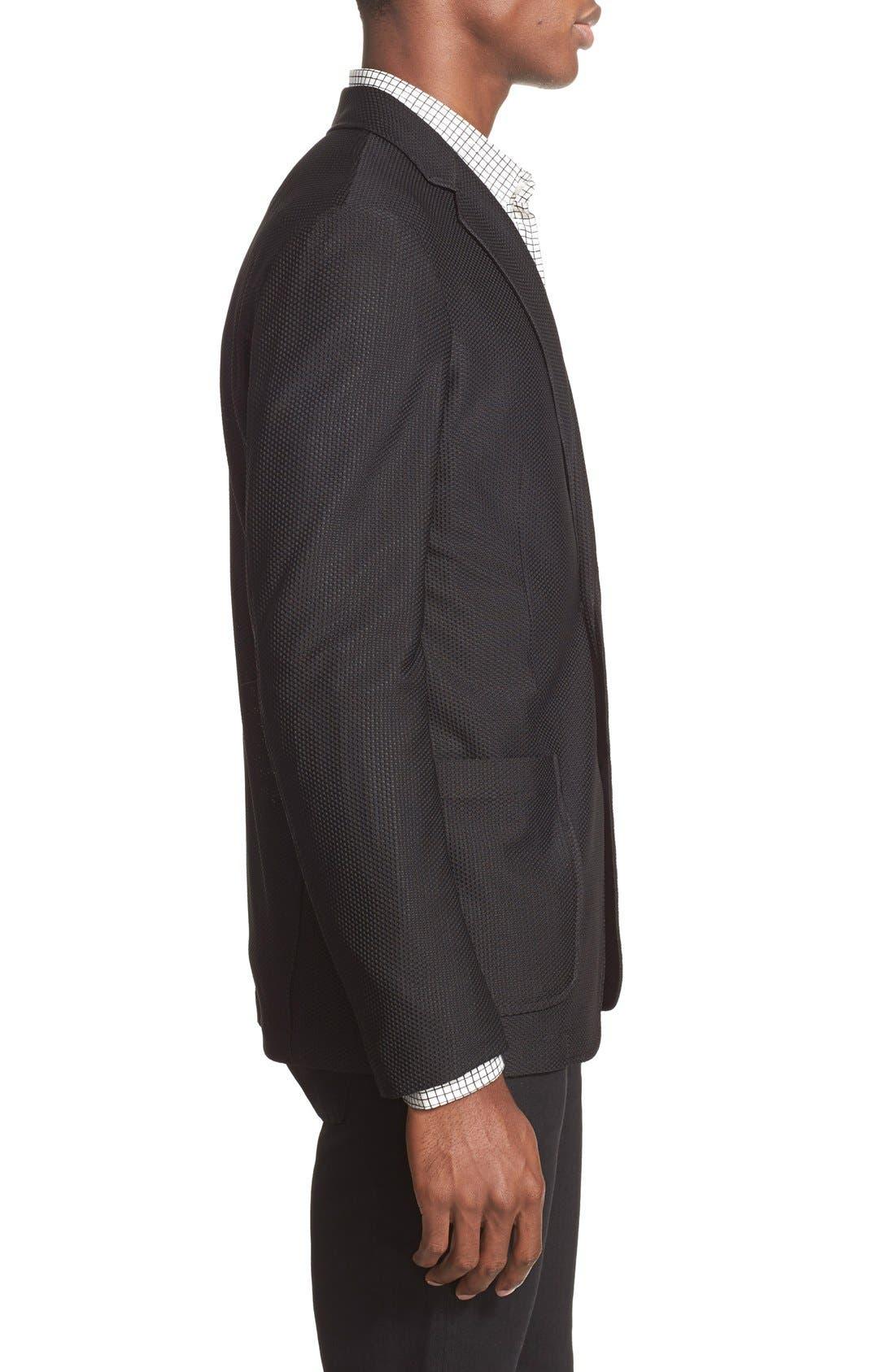 Trim Fit Textured Sport Coat,                             Alternate thumbnail 3, color,                             004