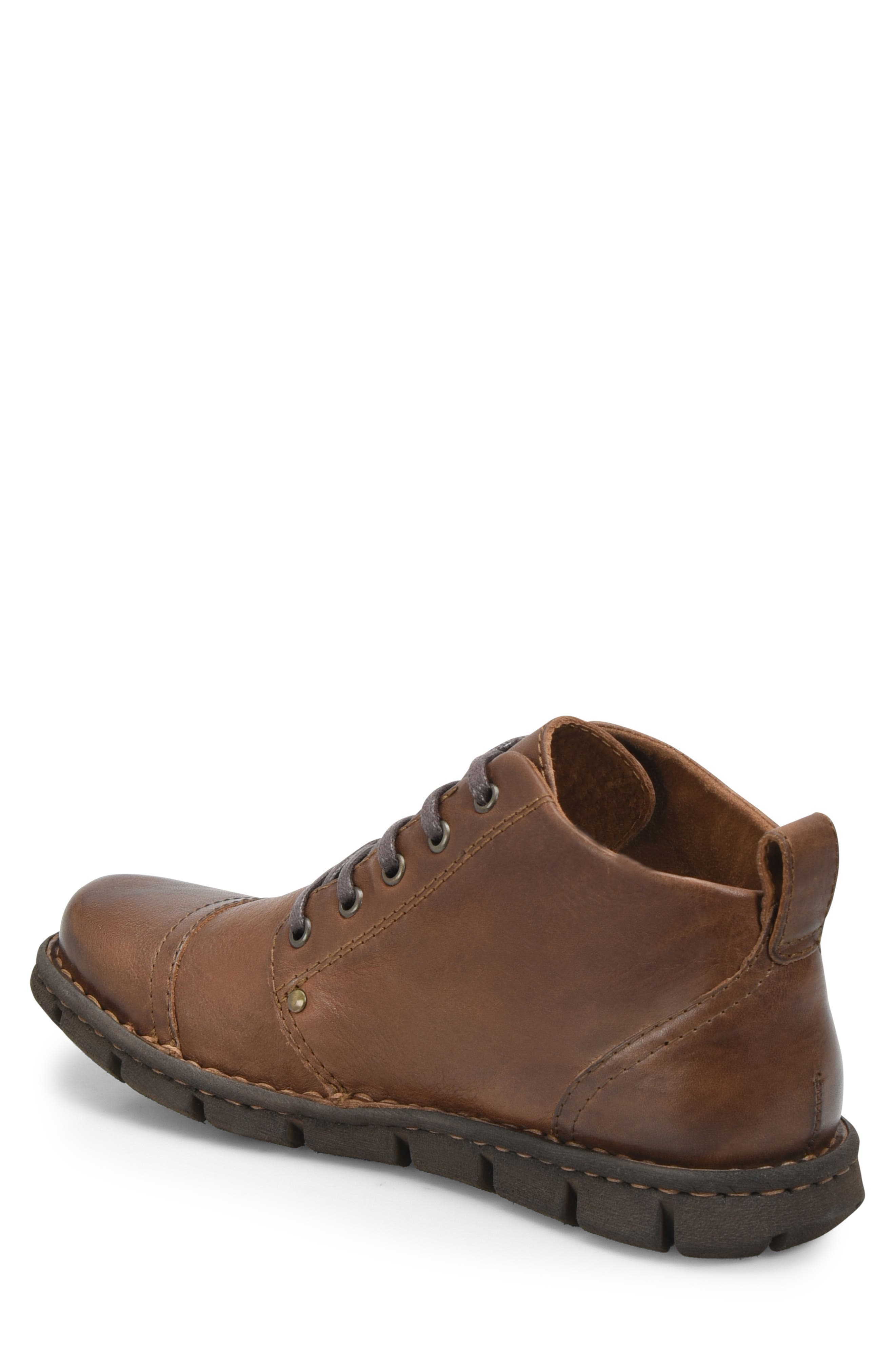 Boulder Cap Toe Boot,                             Alternate thumbnail 2, color,                             BROWN LEATHER