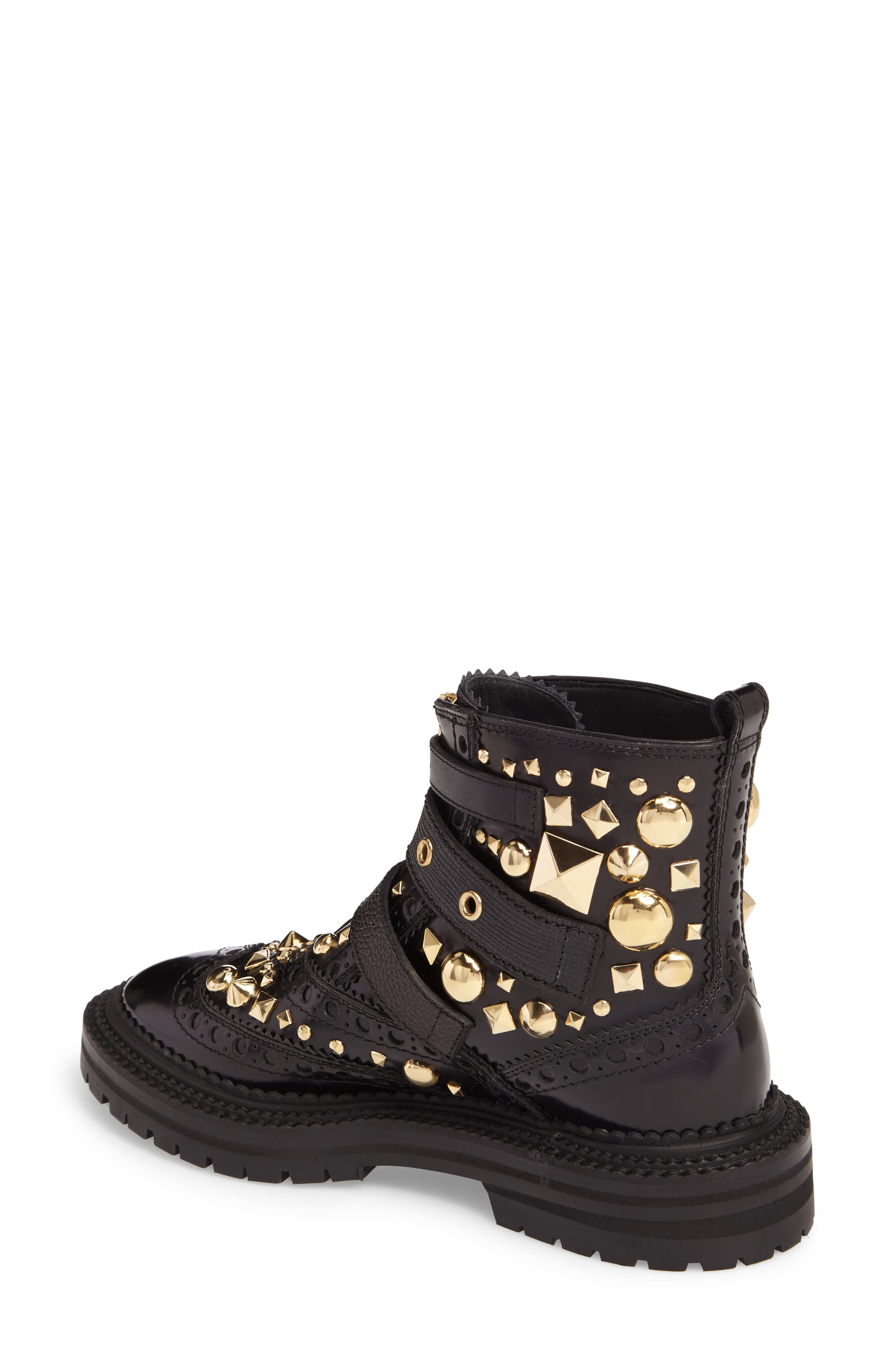 Studded Combat Boot,                             Alternate thumbnail 2, color,                             001
