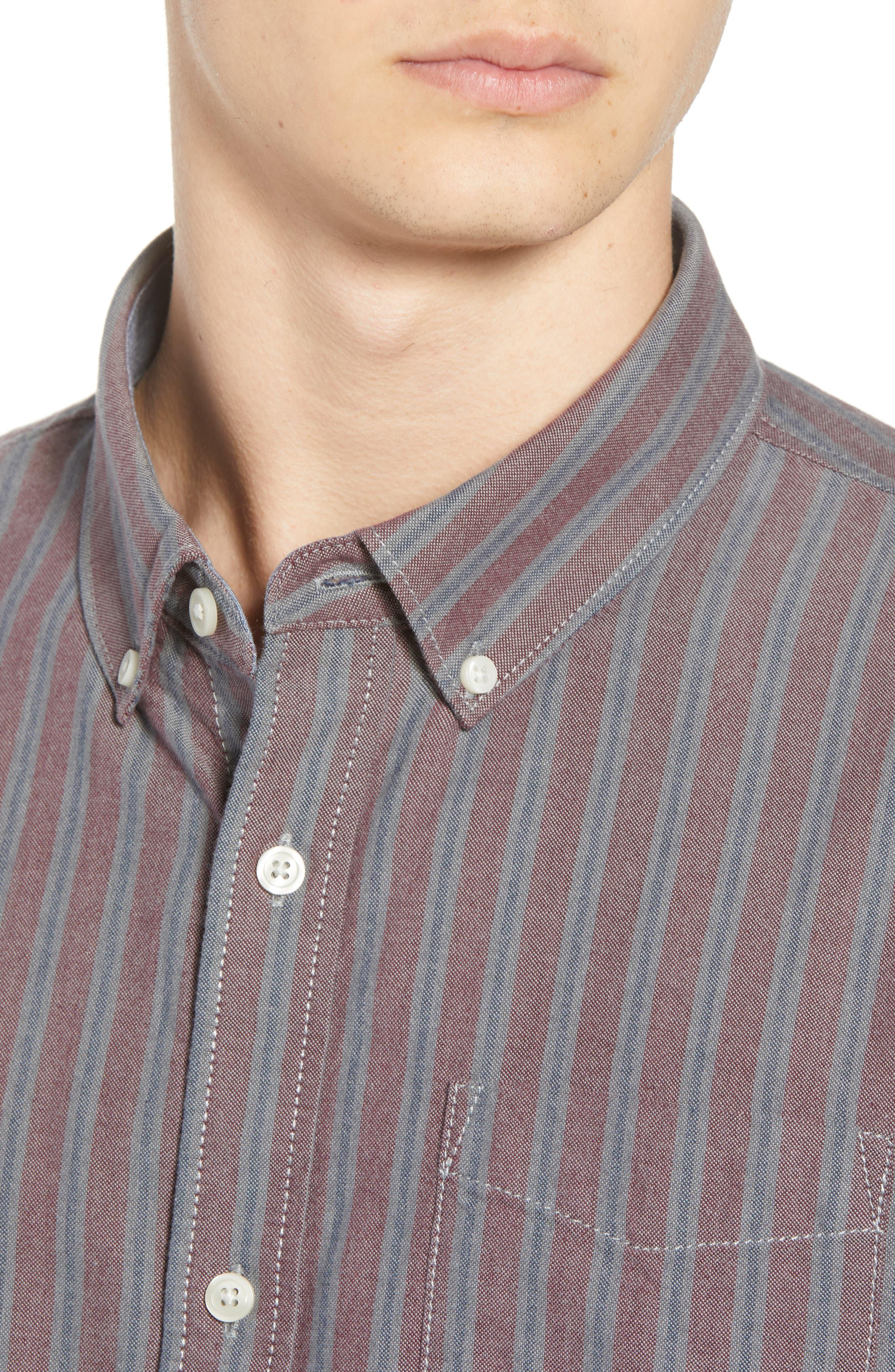 Houser Woven Shirt,                             Alternate thumbnail 4, color,                             PORT ROYALE STRIPE