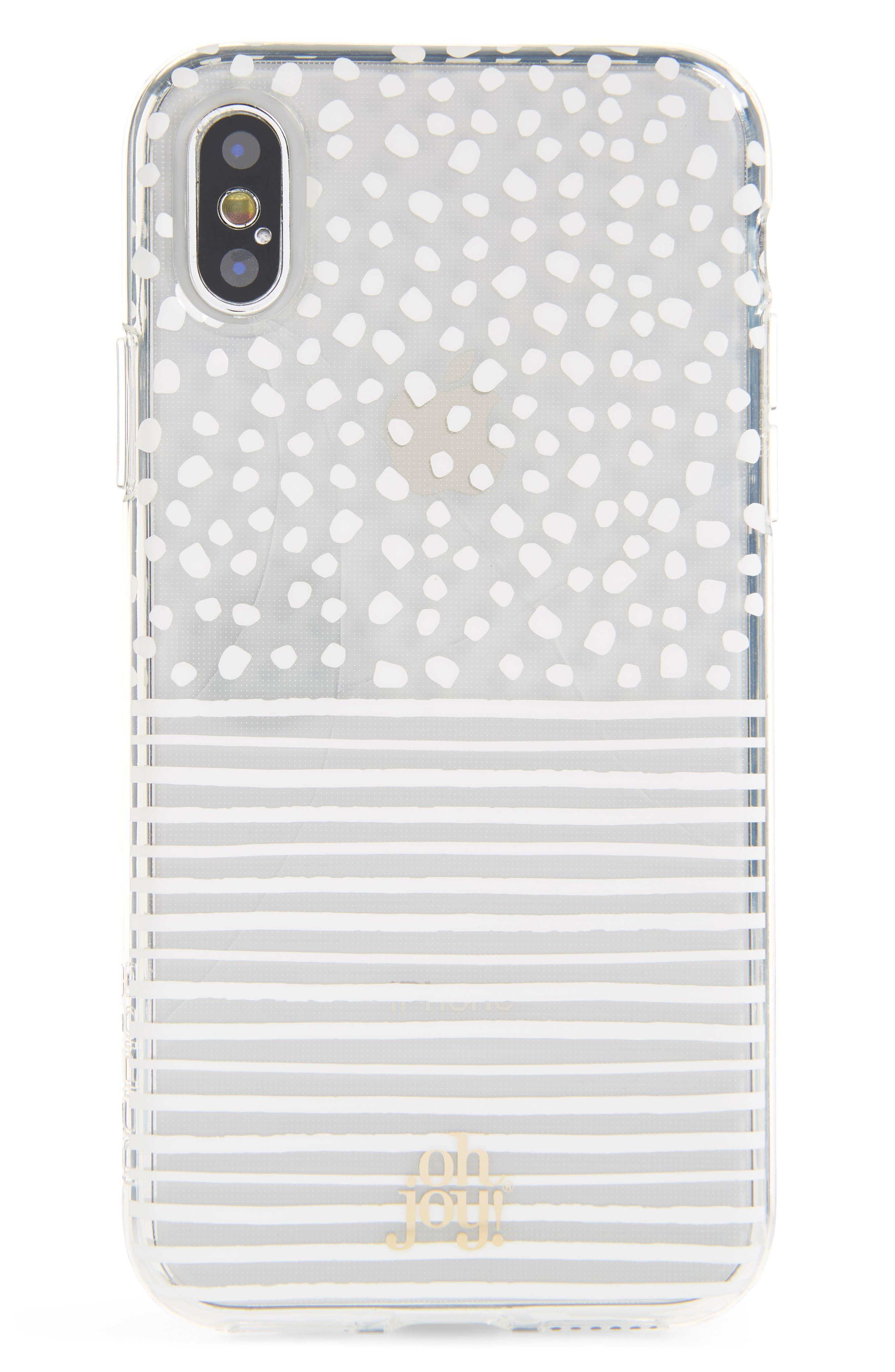 Oh Joy Dots & Stripes iPhone X/Xs Case,                         Main,                         color, 100
