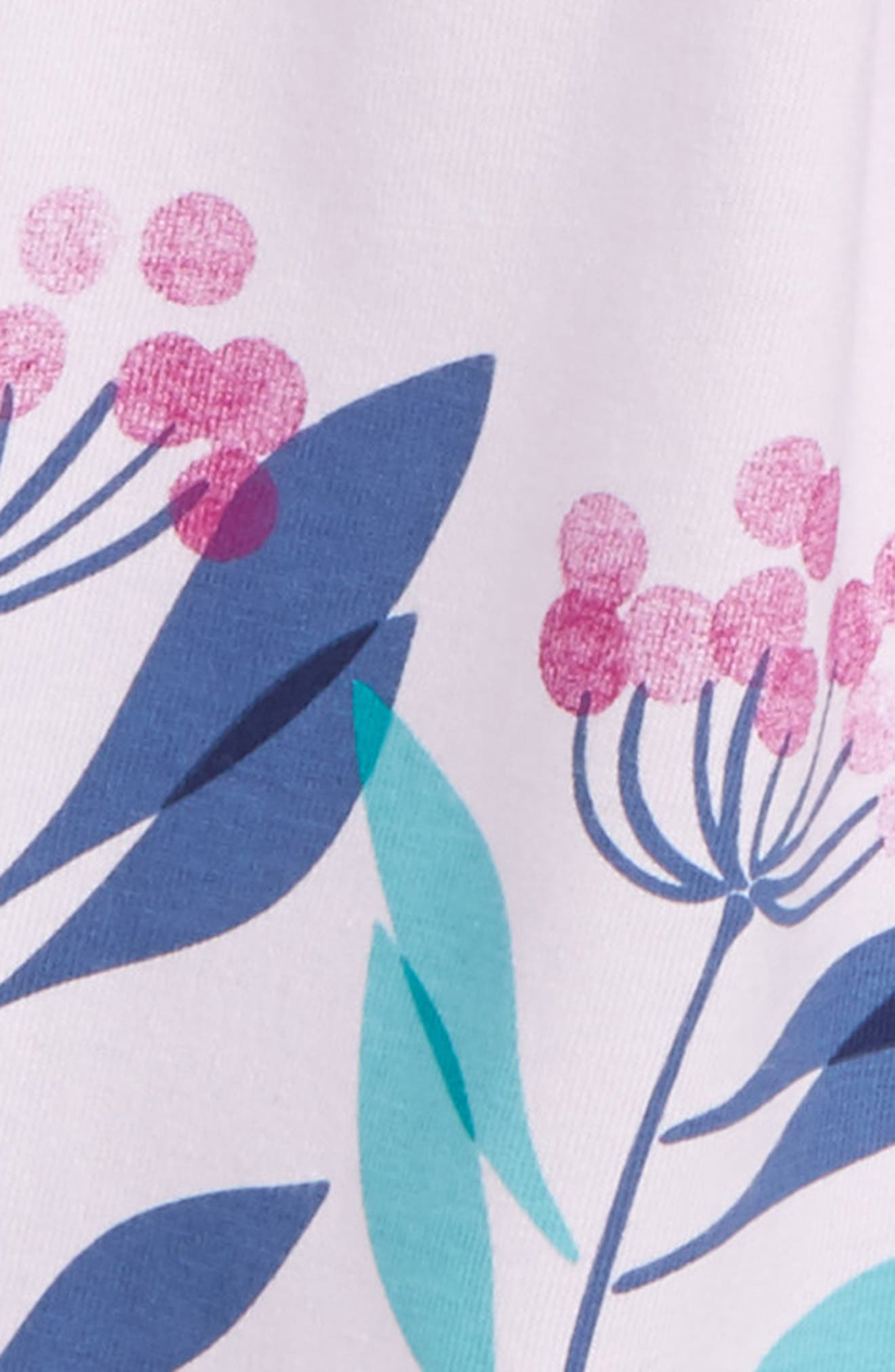Flower Print Wrap Neck Knit Dress,                             Alternate thumbnail 2, color,                             555