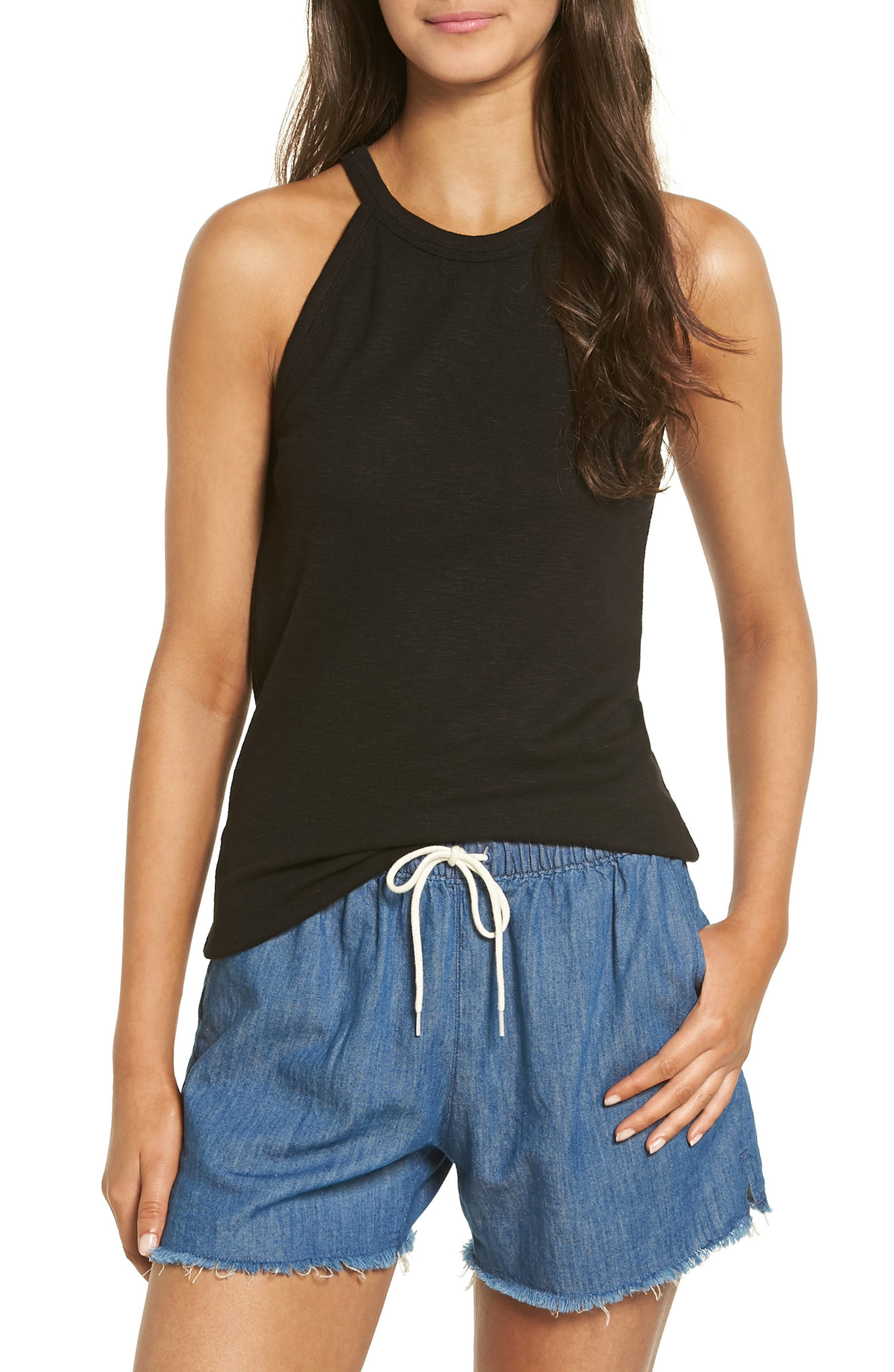 Timeoff High Neck Tank,                         Main,                         color,