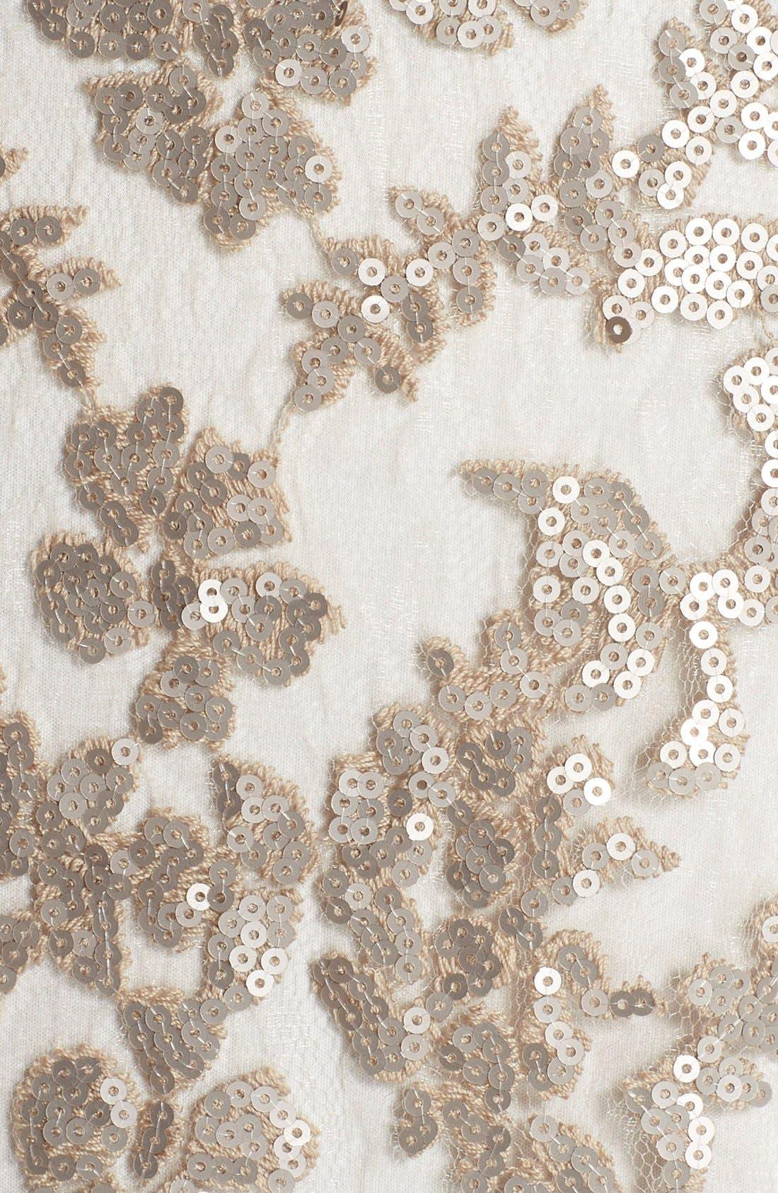 Sequin Lace Blouson Gown,                             Alternate thumbnail 5, color,                             252