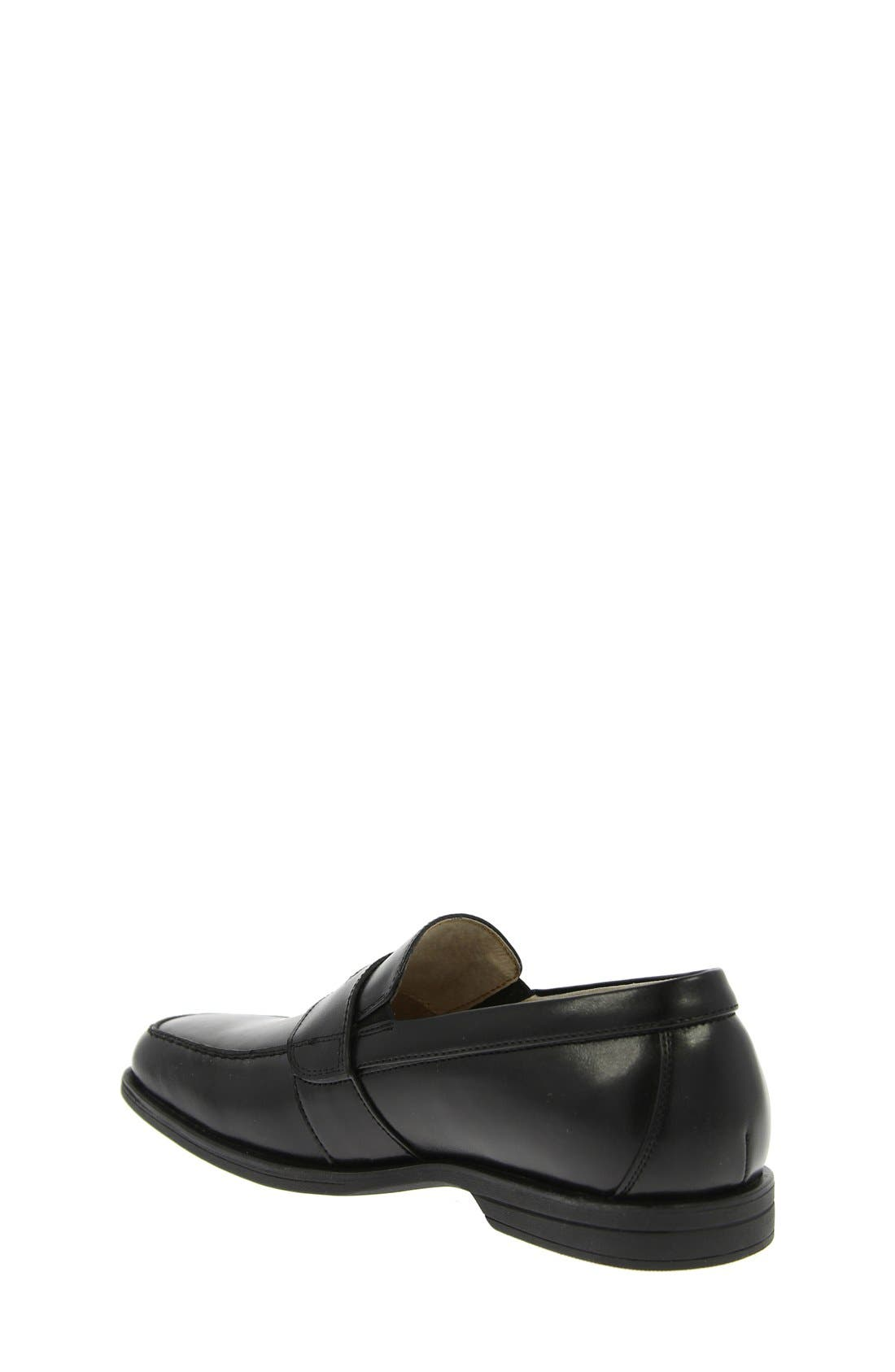'Reveal' Penny Loafer,                             Alternate thumbnail 9, color,                             BLACK