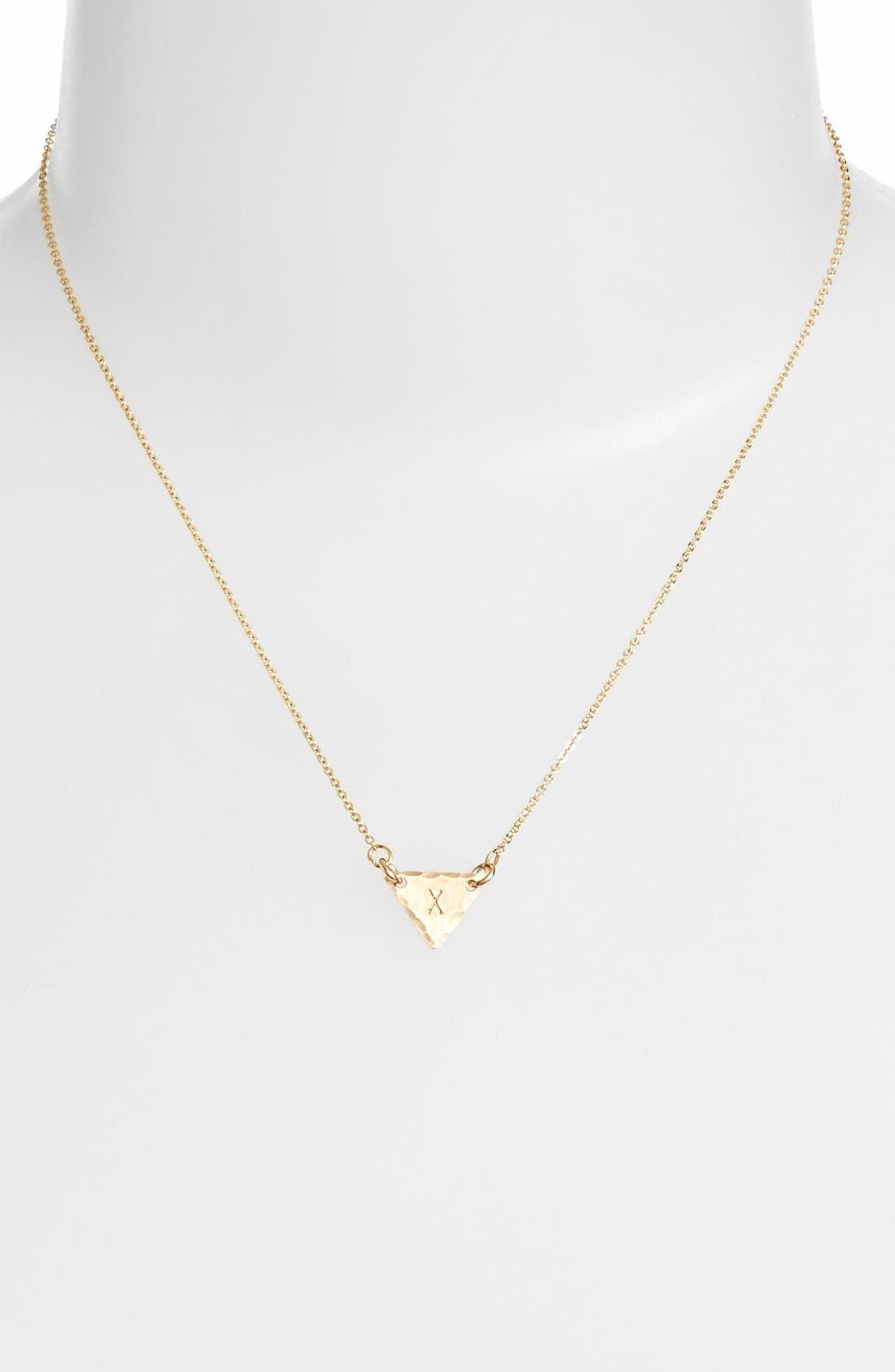 14k-Gold Fill Initial Triangle Necklace,                             Alternate thumbnail 50, color,