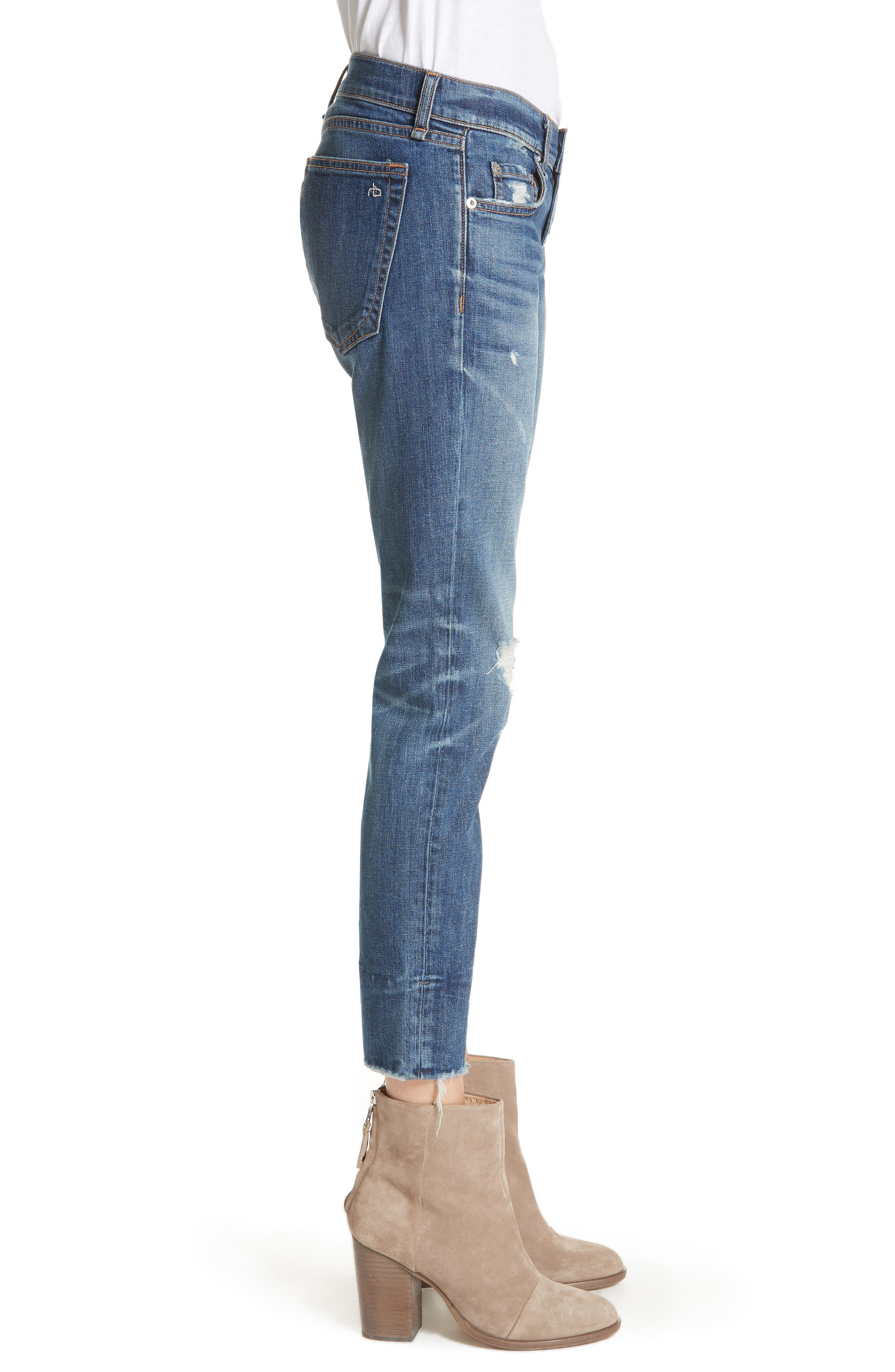 Dre Ankle Slim Boyfriend Jeans,                             Alternate thumbnail 3, color,                             420
