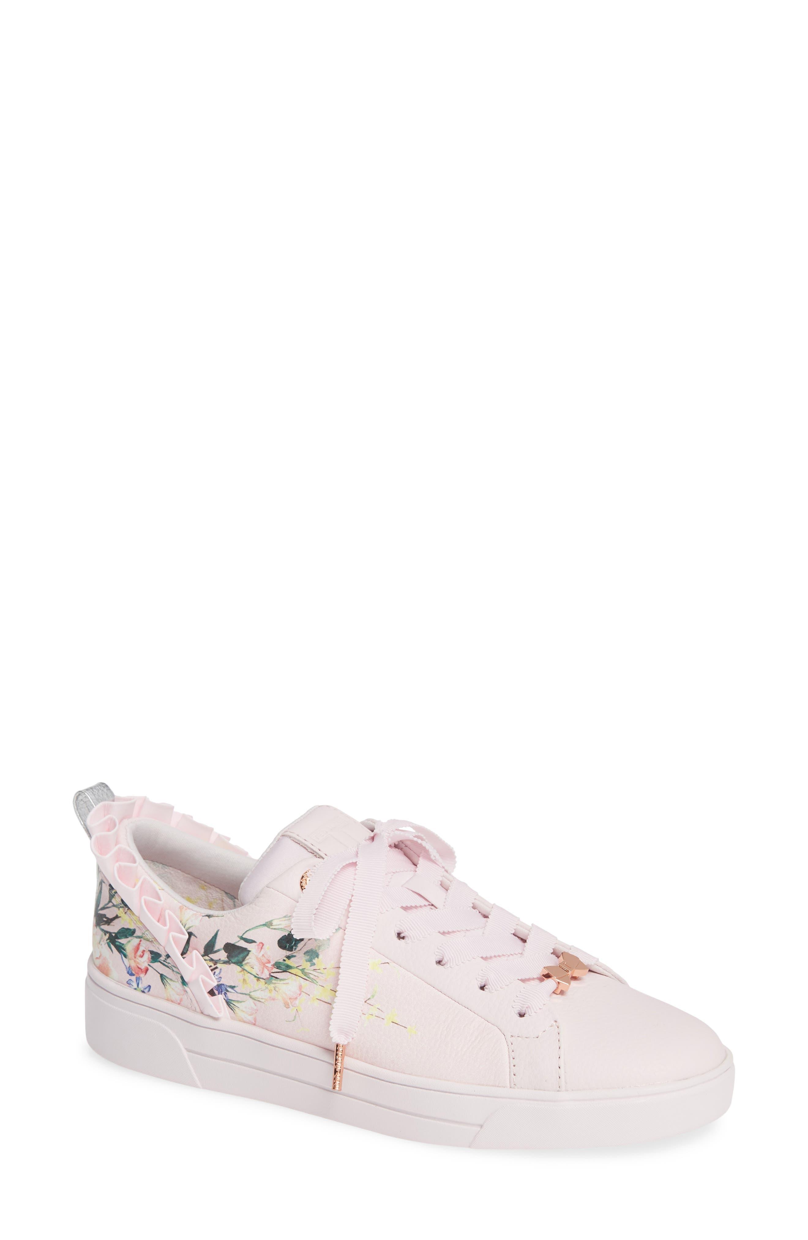 TED BAKER LONDON Astrina Sneaker, Main, color, ELEGANT PINK LEATHER