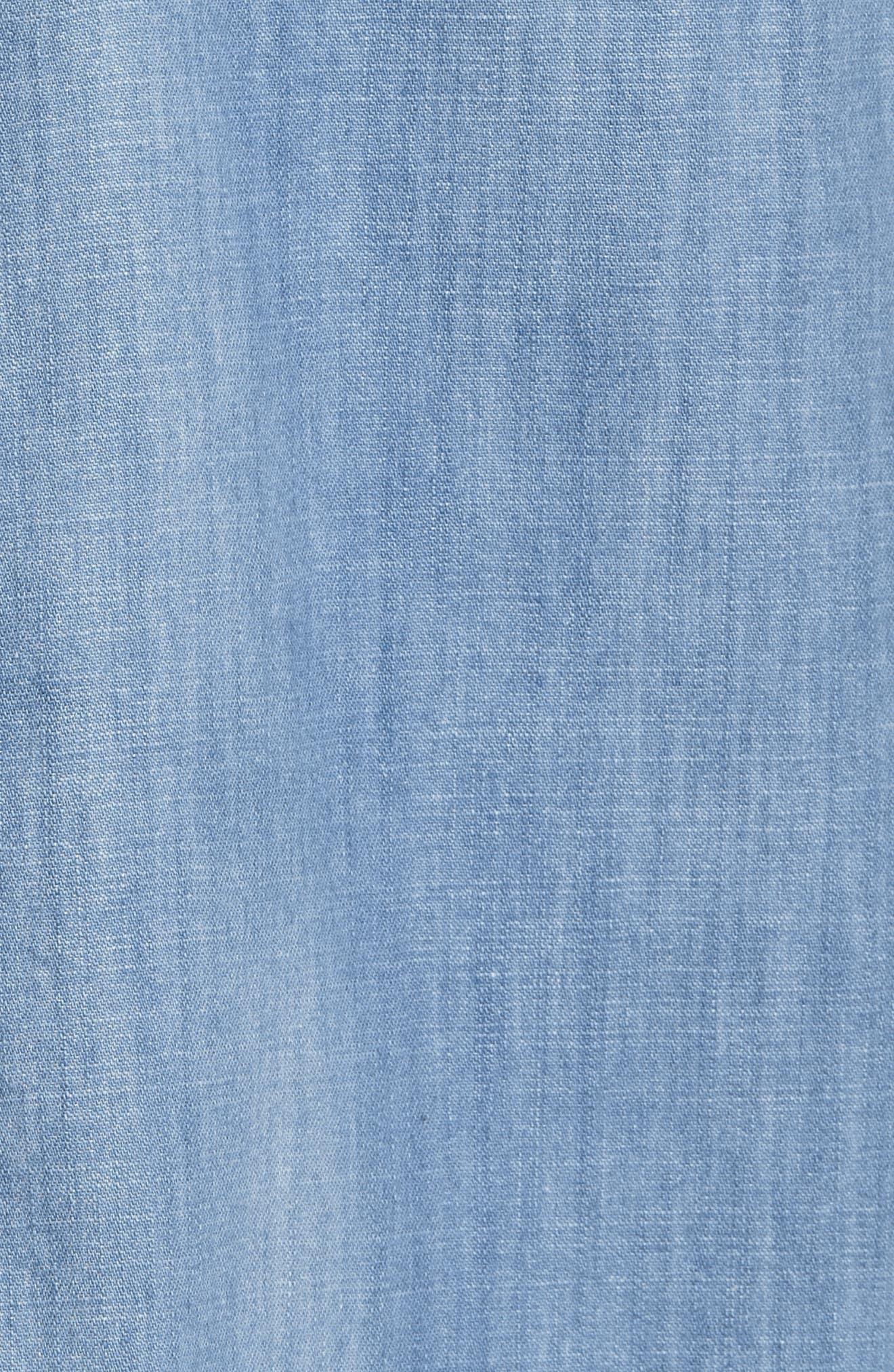Nevin Short Sleeve Denim Shirt,                             Alternate thumbnail 5, color,                             497