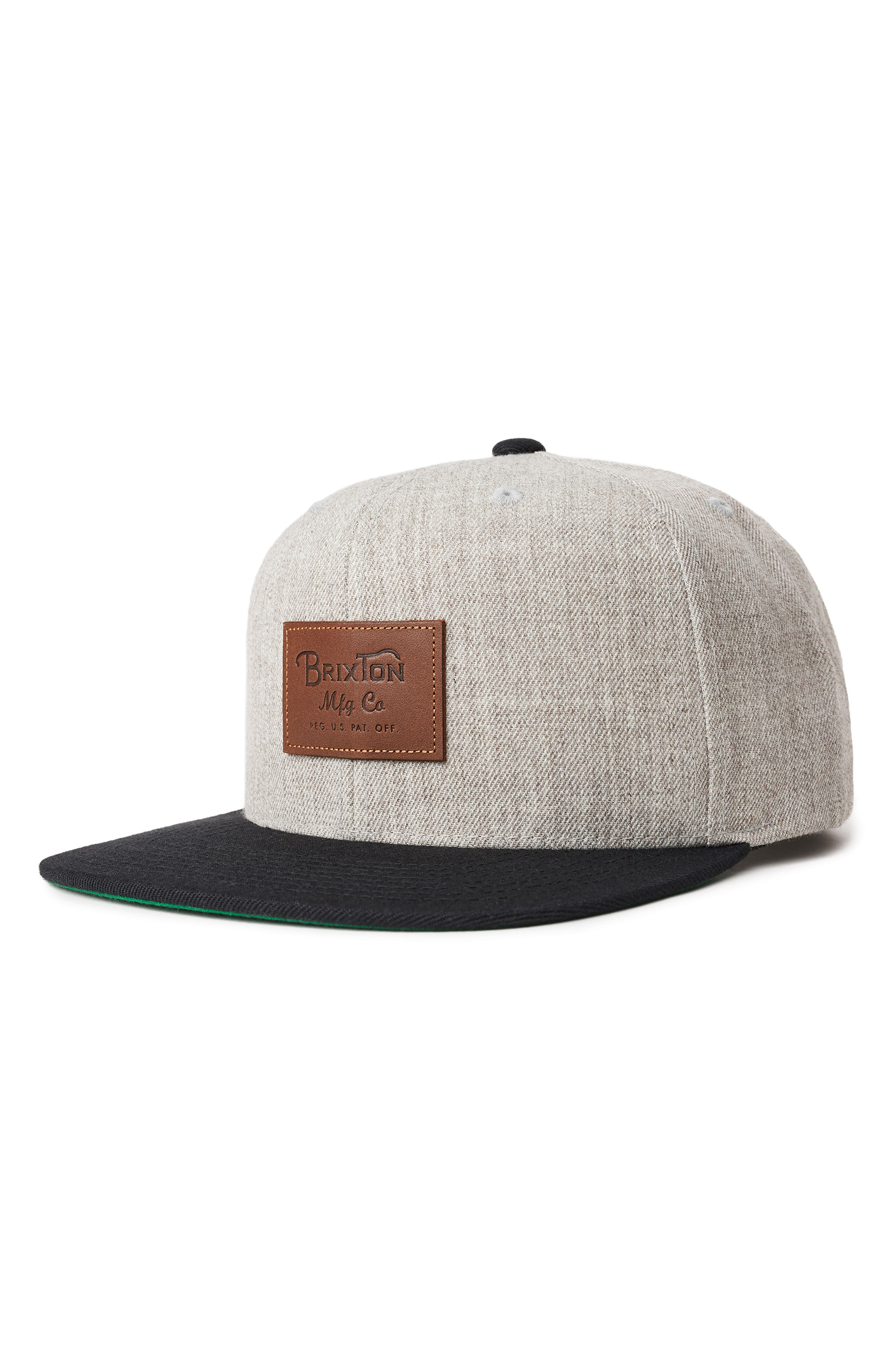 Grade II Snapback Baseball Cap,                         Main,                         color, LIGHT HEATHER GREY/ BLACK