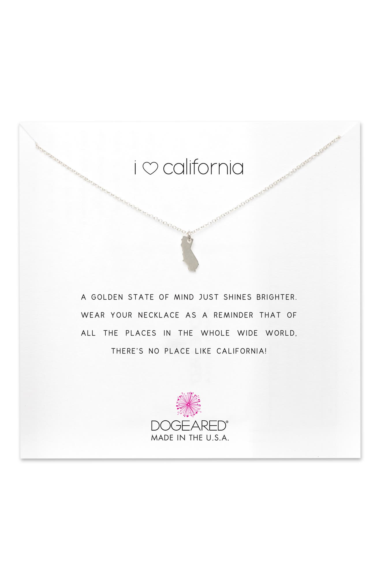 I Heart California Pendant Necklace,                             Alternate thumbnail 5, color,                             042