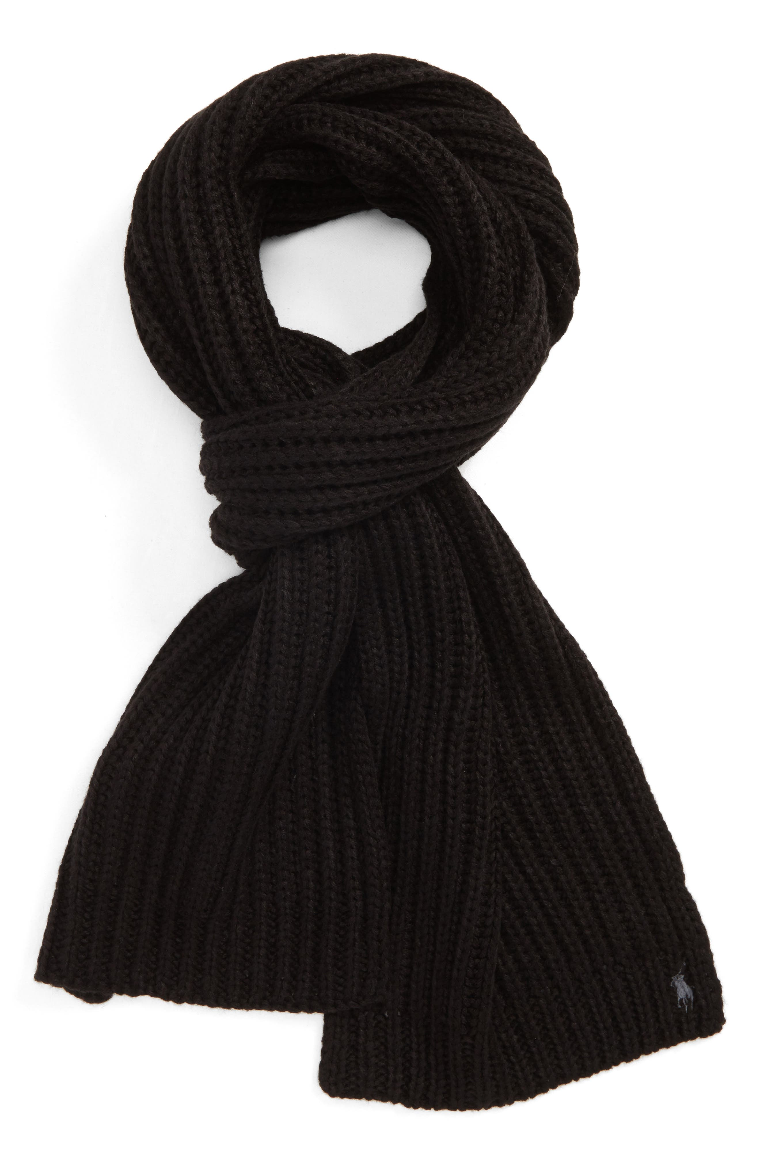 Chunky Rib Knit Scarf,                         Main,                         color,