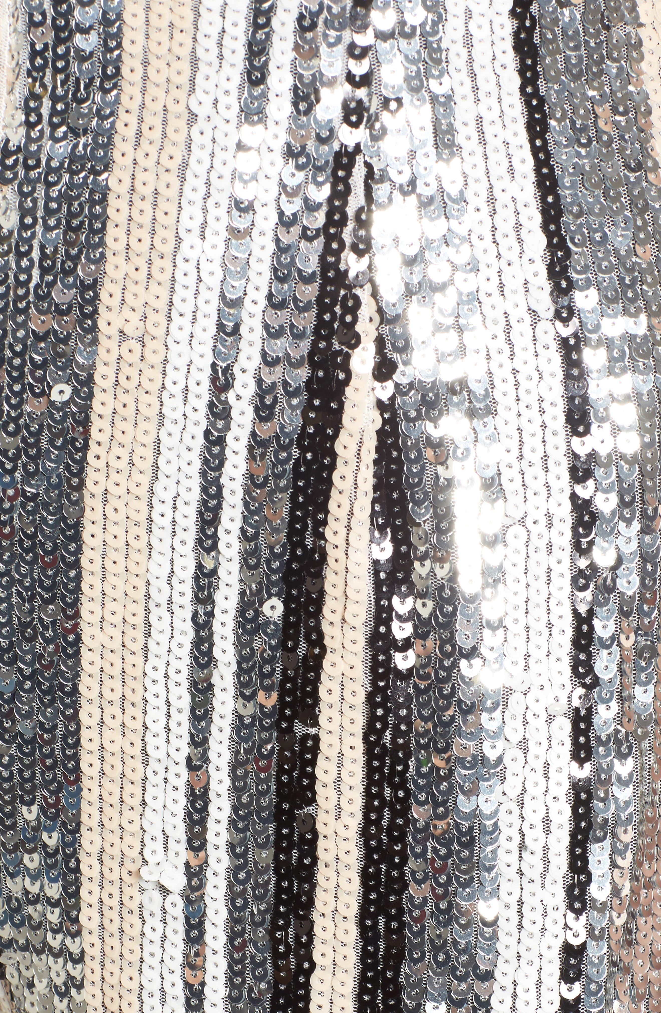 Serena Sequin Jumpsuit,                             Alternate thumbnail 5, color,                             001
